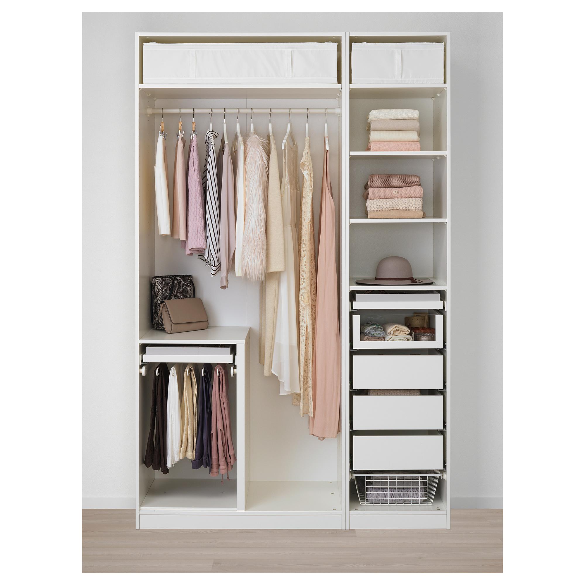 Гардероб ПАКС белый артикуль № 192.649.63 в наличии. Онлайн сайт IKEA РБ. Недорогая доставка и соборка.