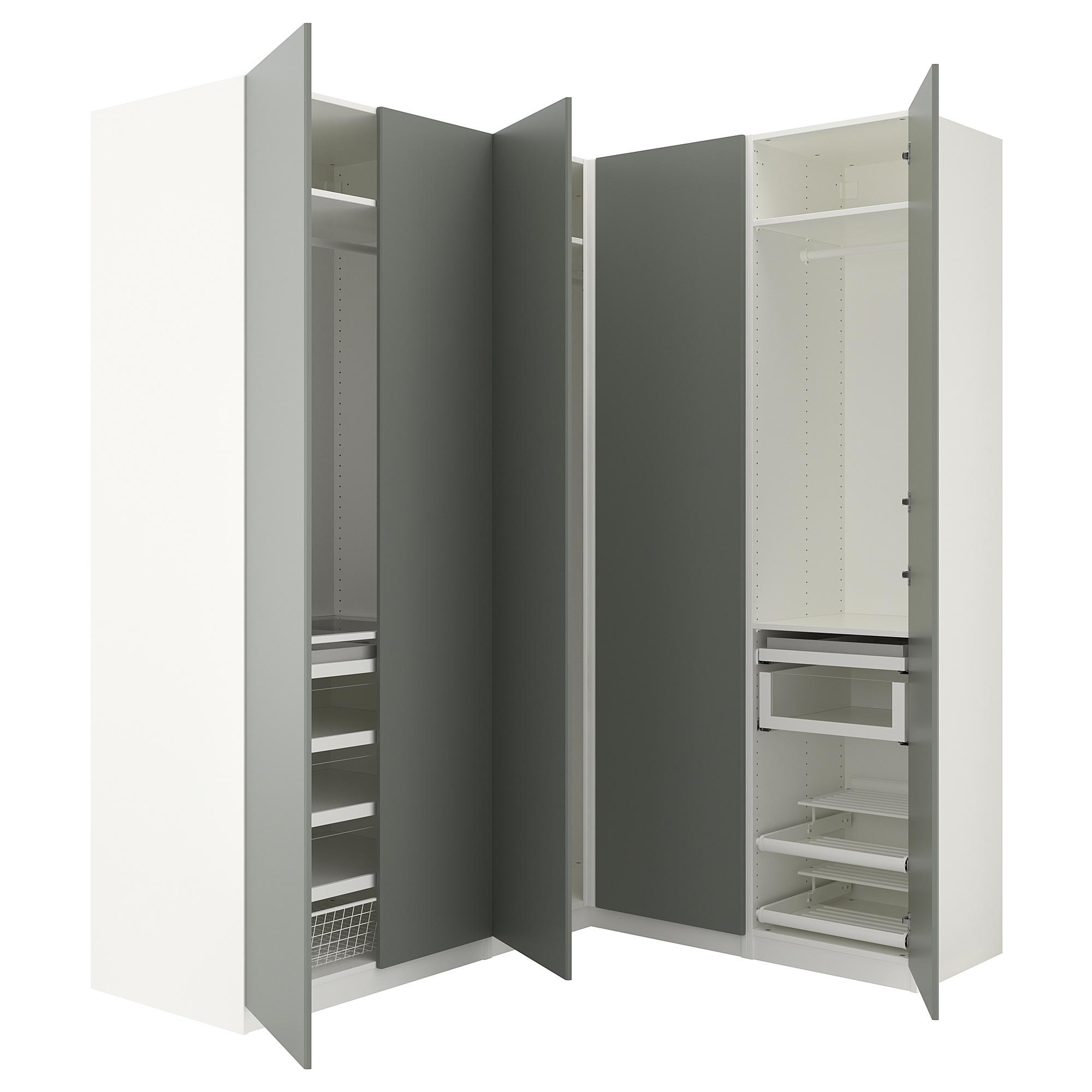 Гардероб угловой ПАКС серо-зеленый артикуль № 892.656.81 в наличии. Online сайт IKEA РБ. Недорогая доставка и соборка.