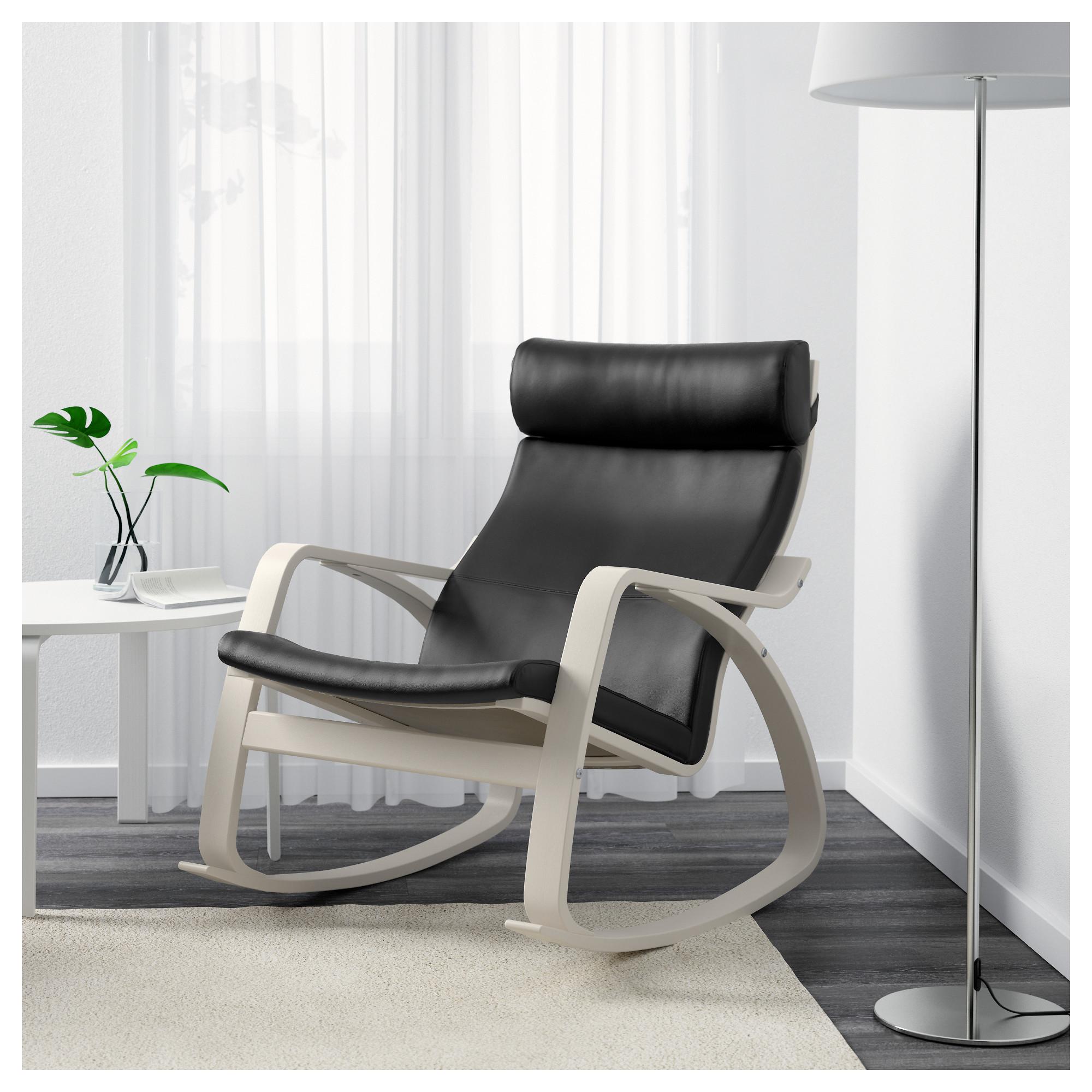 Кресло-качалка ПОЭНГ черный артикуль № 492.515.96 в наличии. Интернет магазин IKEA РБ. Быстрая доставка и монтаж.