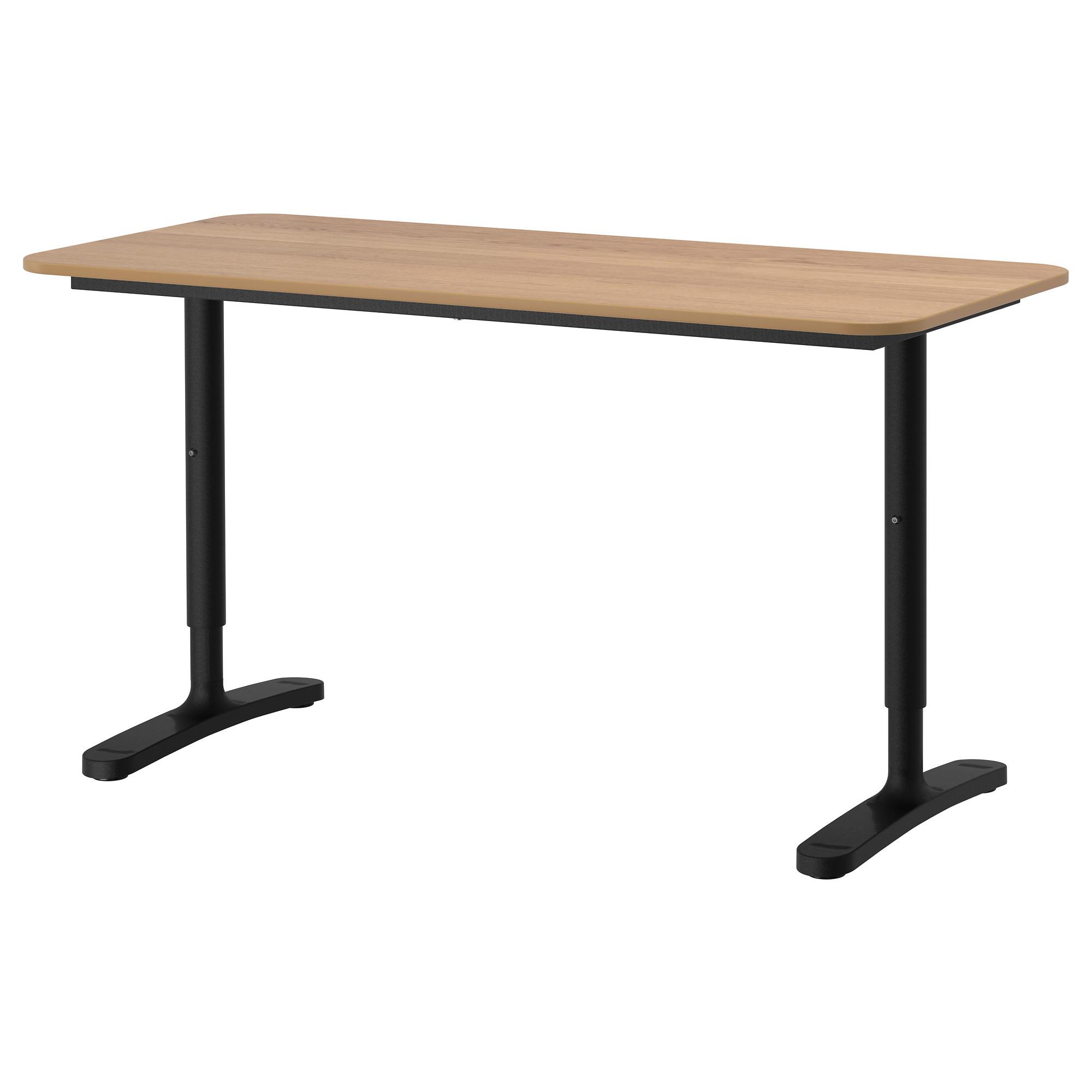 Письменный стол БЕКАНТ черный артикуль № 392.784.93 в наличии. Онлайн магазин IKEA Беларусь. Недорогая доставка и соборка.