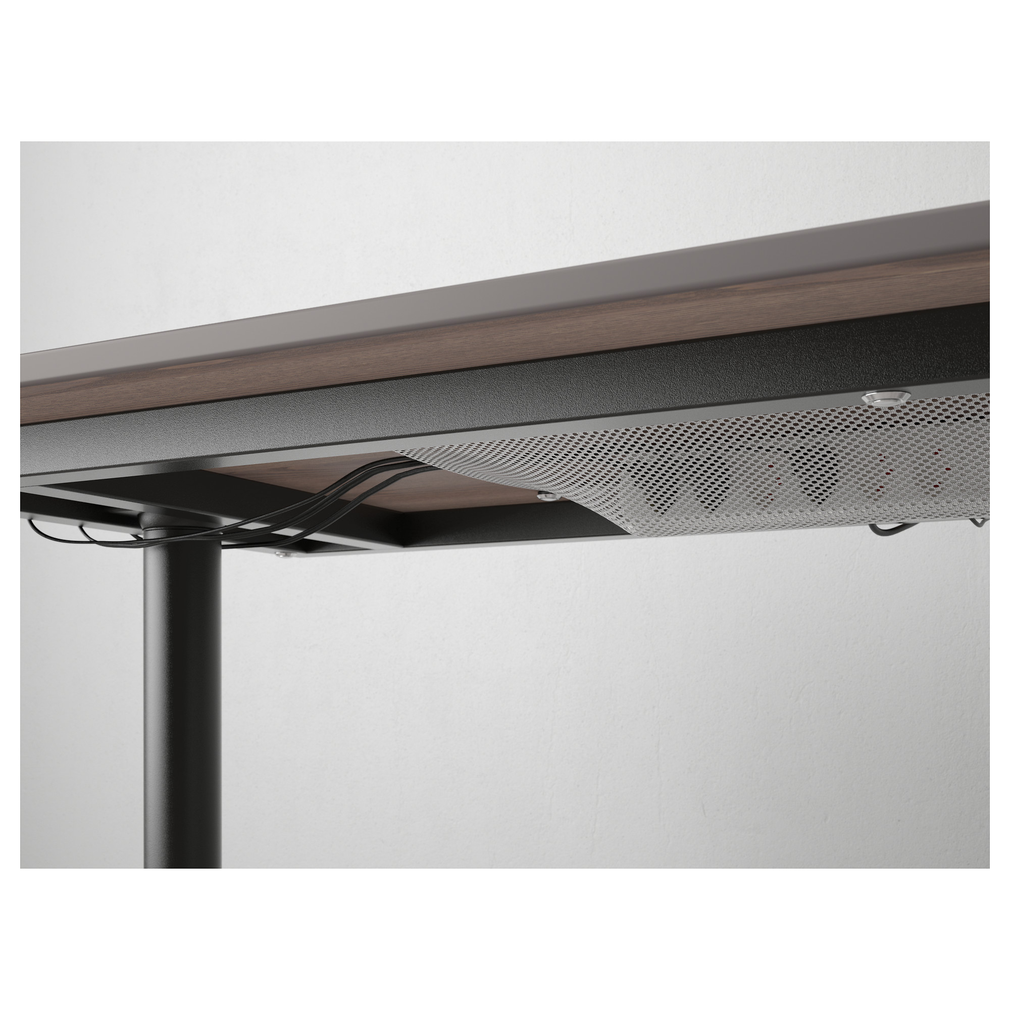 Письменный стол БЕКАНТ черный артикуль № 592.784.92 в наличии. Онлайн магазин IKEA Минск. Недорогая доставка и монтаж.