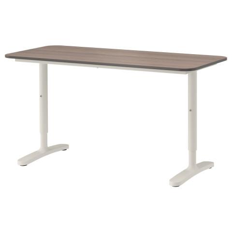 Письменный стол БЕКАНТ серый артикуль № 592.785.24 в наличии. Интернет каталог IKEA Минск. Быстрая доставка и соборка.