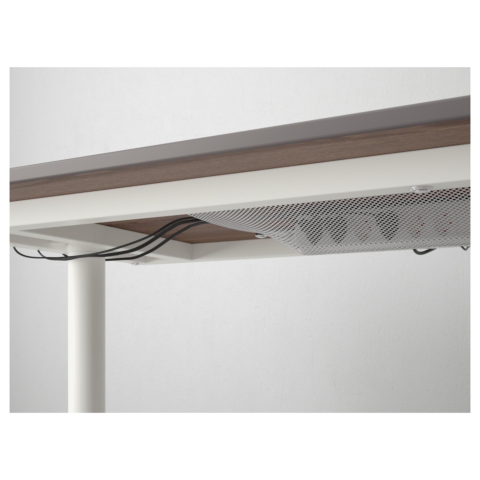Письменный стол БЕКАНТ серый артикуль № 592.785.24 в наличии. Online сайт IKEA РБ. Недорогая доставка и установка.