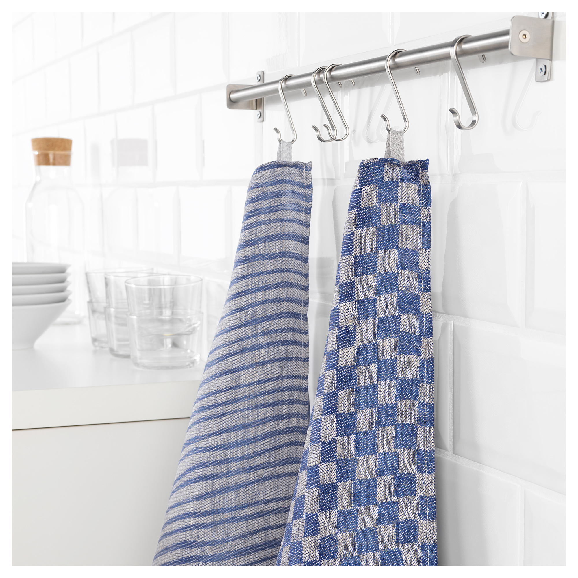 Полотенце кухонное ИНДУСТРИЕЛЛ синий артикуль № 504.103.87 в наличии. Интернет сайт IKEA Республика Беларусь. Недорогая доставка и установка.