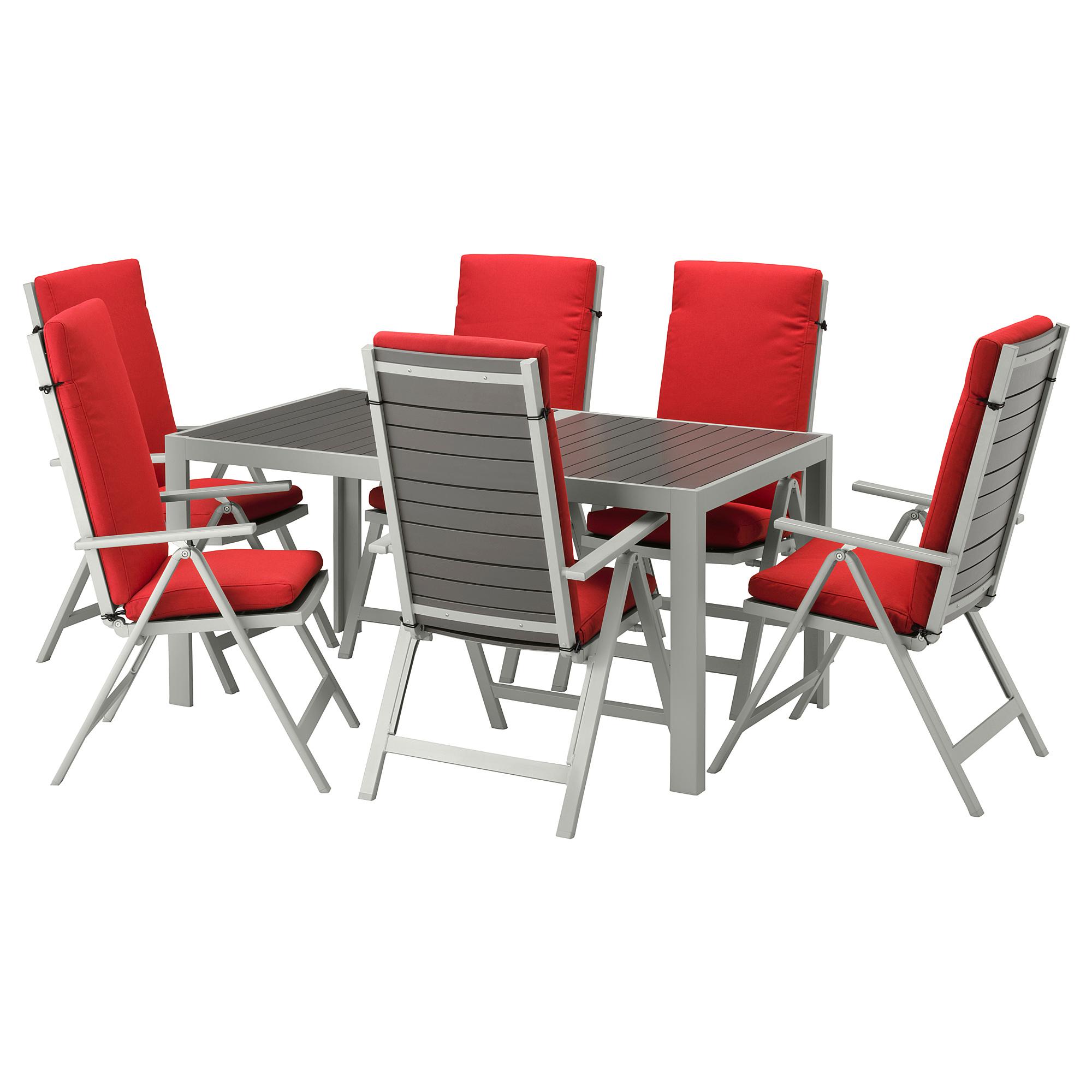 Стол, 6 кресел для сада ШЭЛЛАНД красный артикуль № 992.669.20 в наличии. Онлайн сайт IKEA РБ. Быстрая доставка и монтаж.