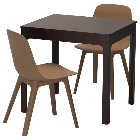 Стол и 2 стула ЭКЕДАЛЕН / ОДГЕР темно-коричневый артикуль № 992.212.86 в наличии. Онлайн каталог IKEA Беларусь. Недорогая доставка и установка.