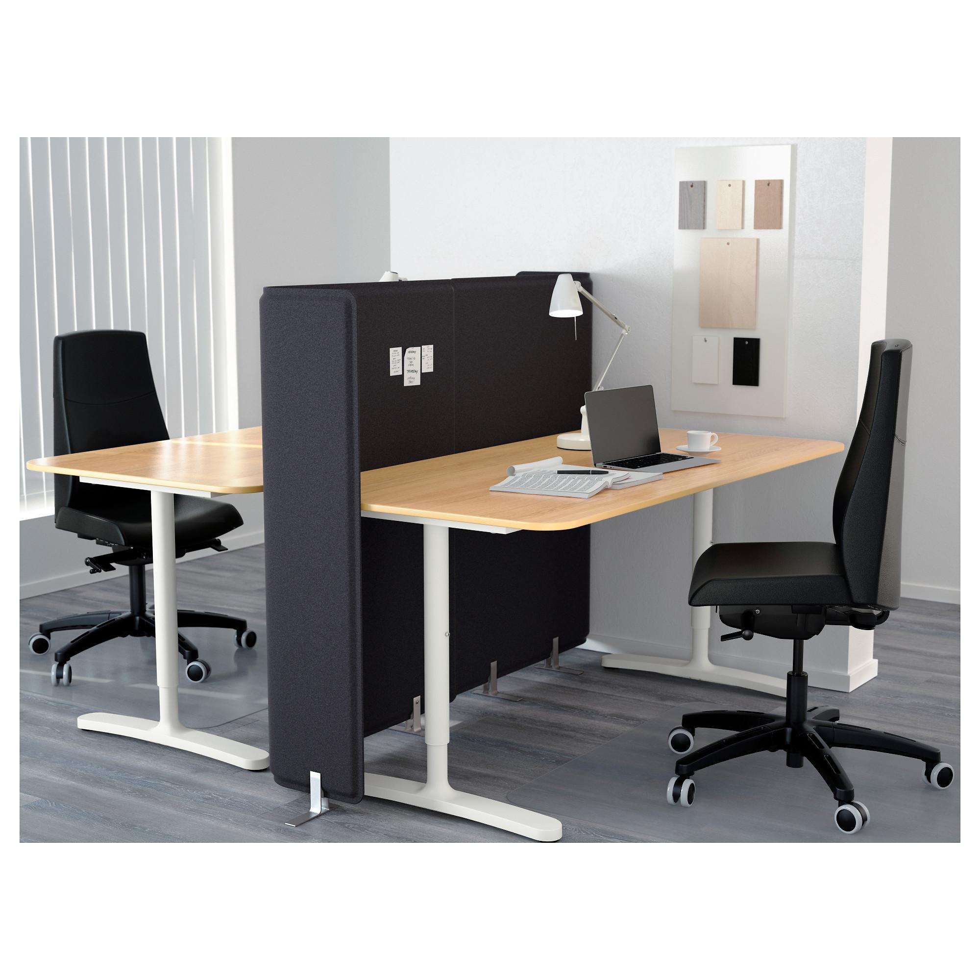 Стол с экраном БЕКАНТ белый артикуль № 892.786.45 в наличии. Онлайн каталог IKEA Минск. Недорогая доставка и монтаж.