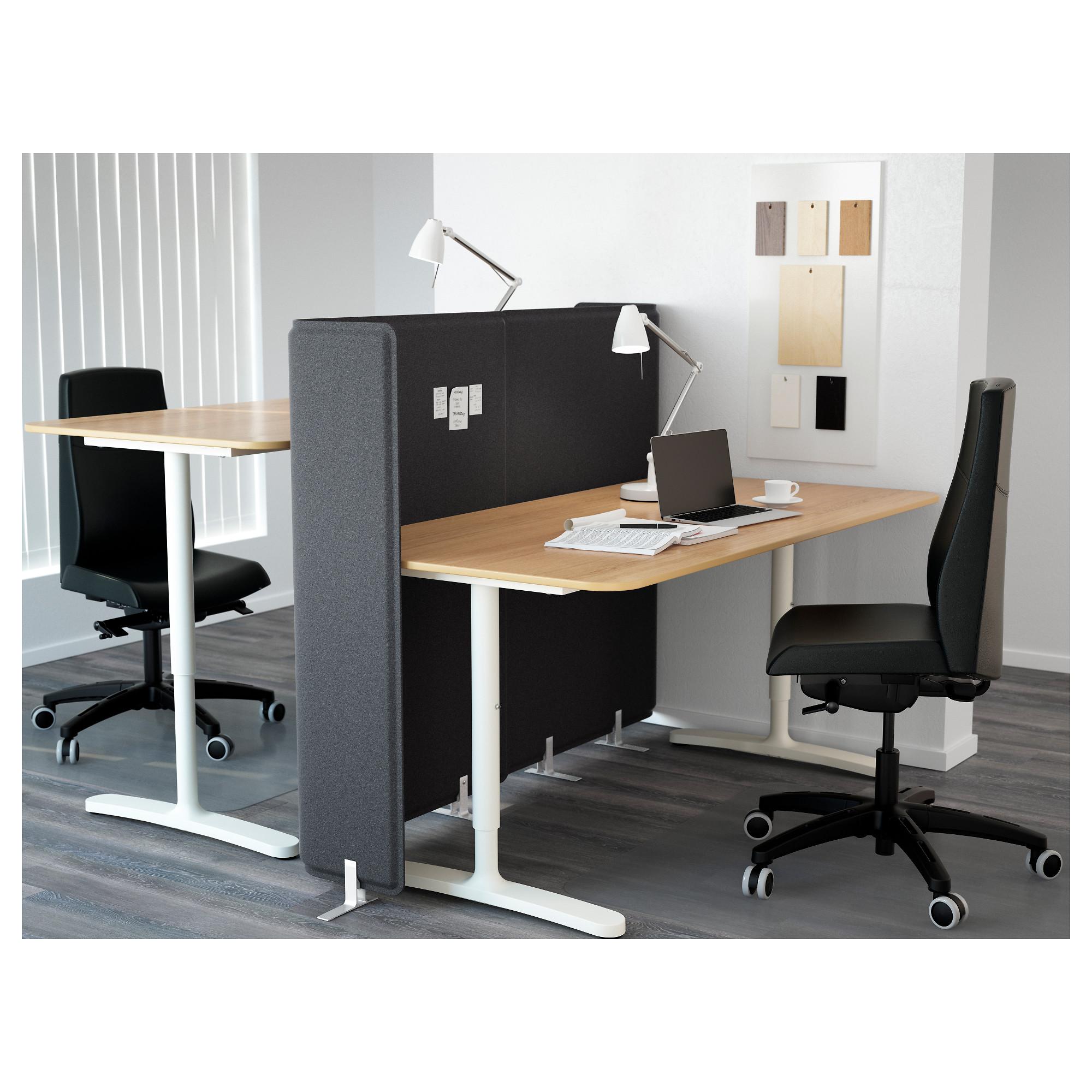Стол с экраном БЕКАНТ белый артикуль № 892.786.45 в наличии. Интернет магазин IKEA Беларусь. Недорогая доставка и установка.