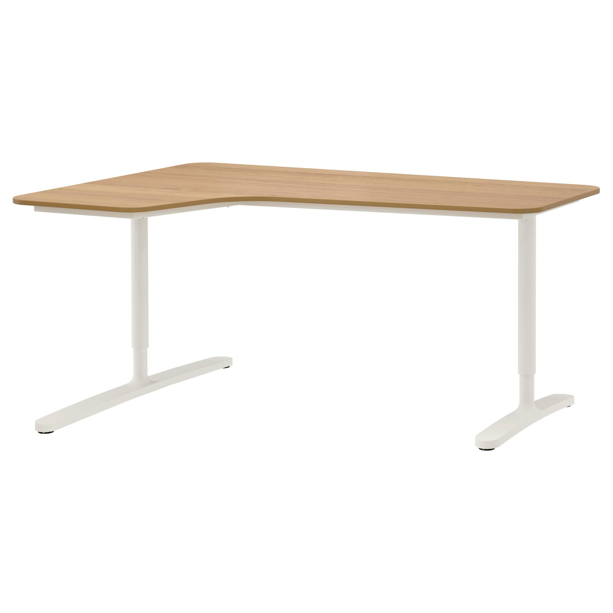 Угловой письменный стол левосторонний БЕКАНТ белый артикуль № 592.784.54 в наличии. Онлайн магазин IKEA Республика Беларусь. Быстрая доставка и установка.