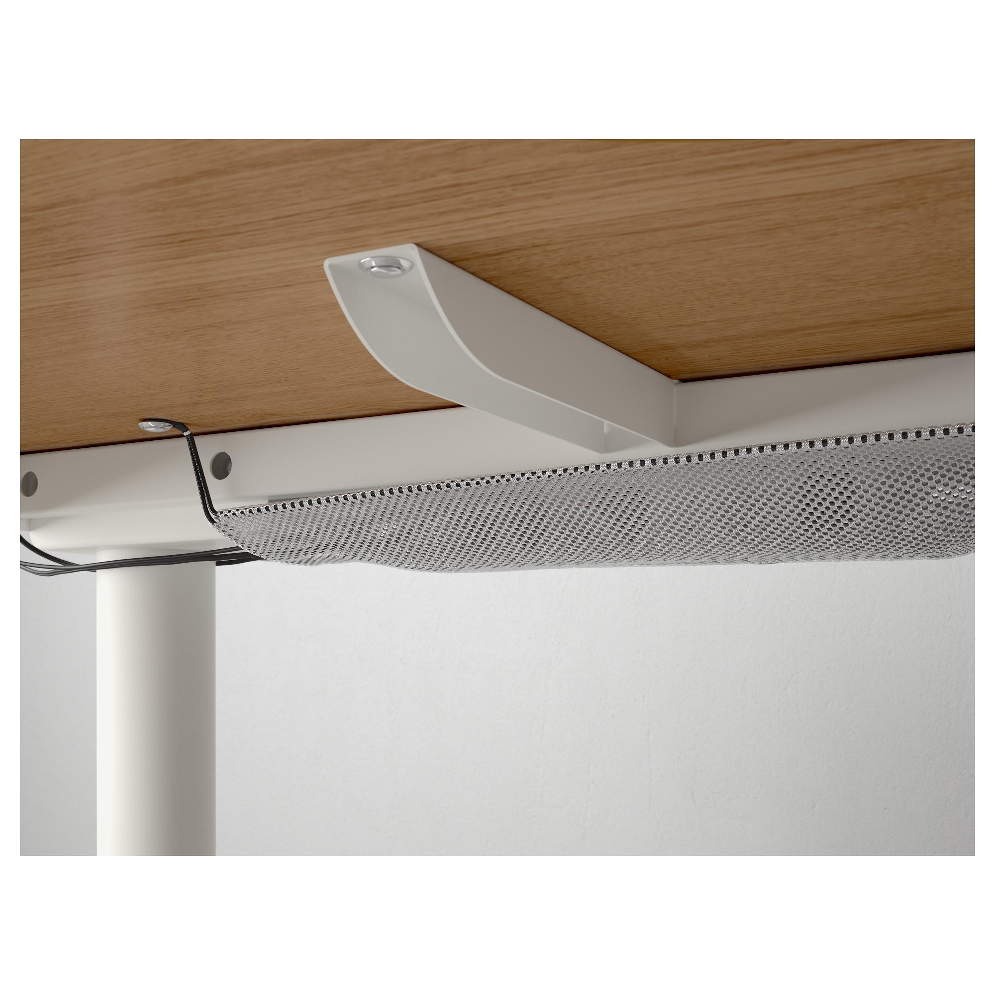 Угловой письменный стол левосторонний трансформер БЕКАНТ белый артикуль № 592.786.61 в наличии. Online магазин IKEA Минск. Недорогая доставка и установка.