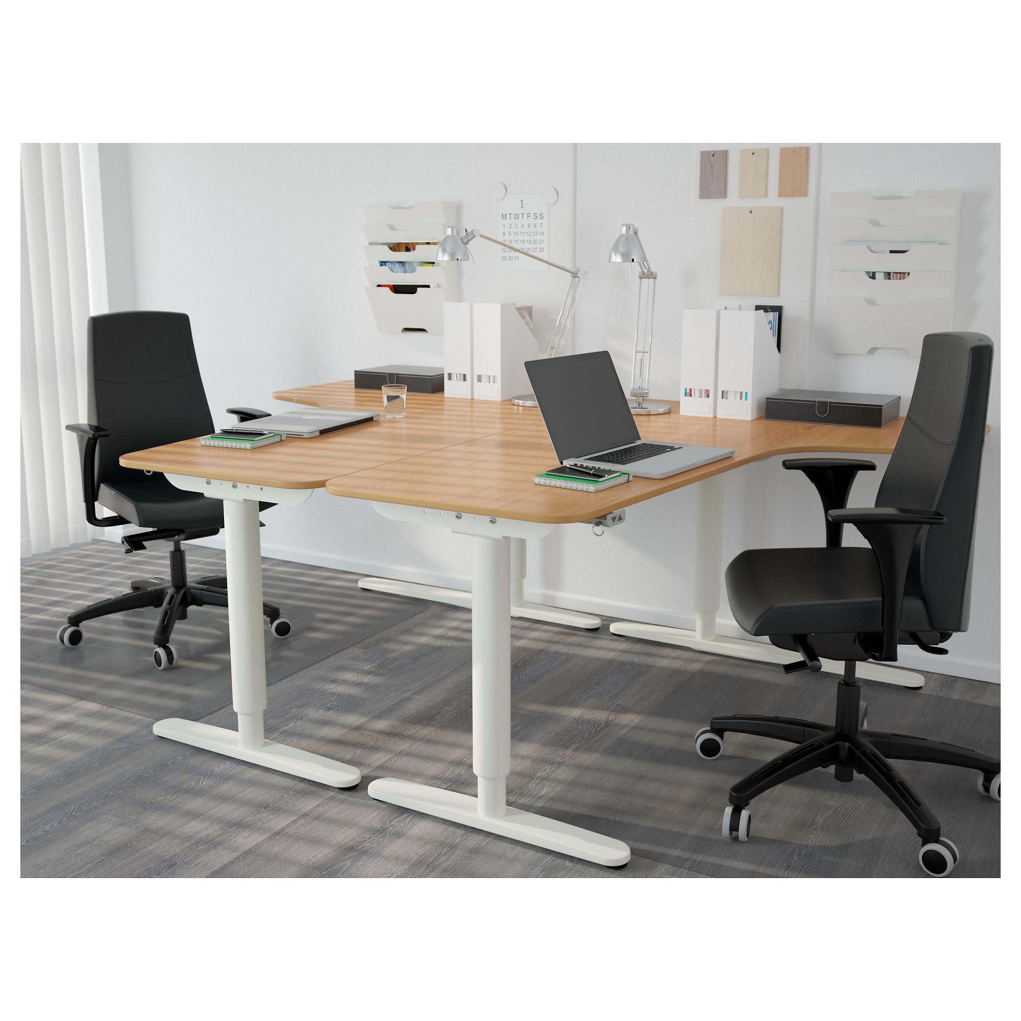 Угловой письменный стол левосторонний трансформер БЕКАНТ белый артикуль № 592.786.61 в наличии. Online сайт IKEA Минск. Недорогая доставка и установка.