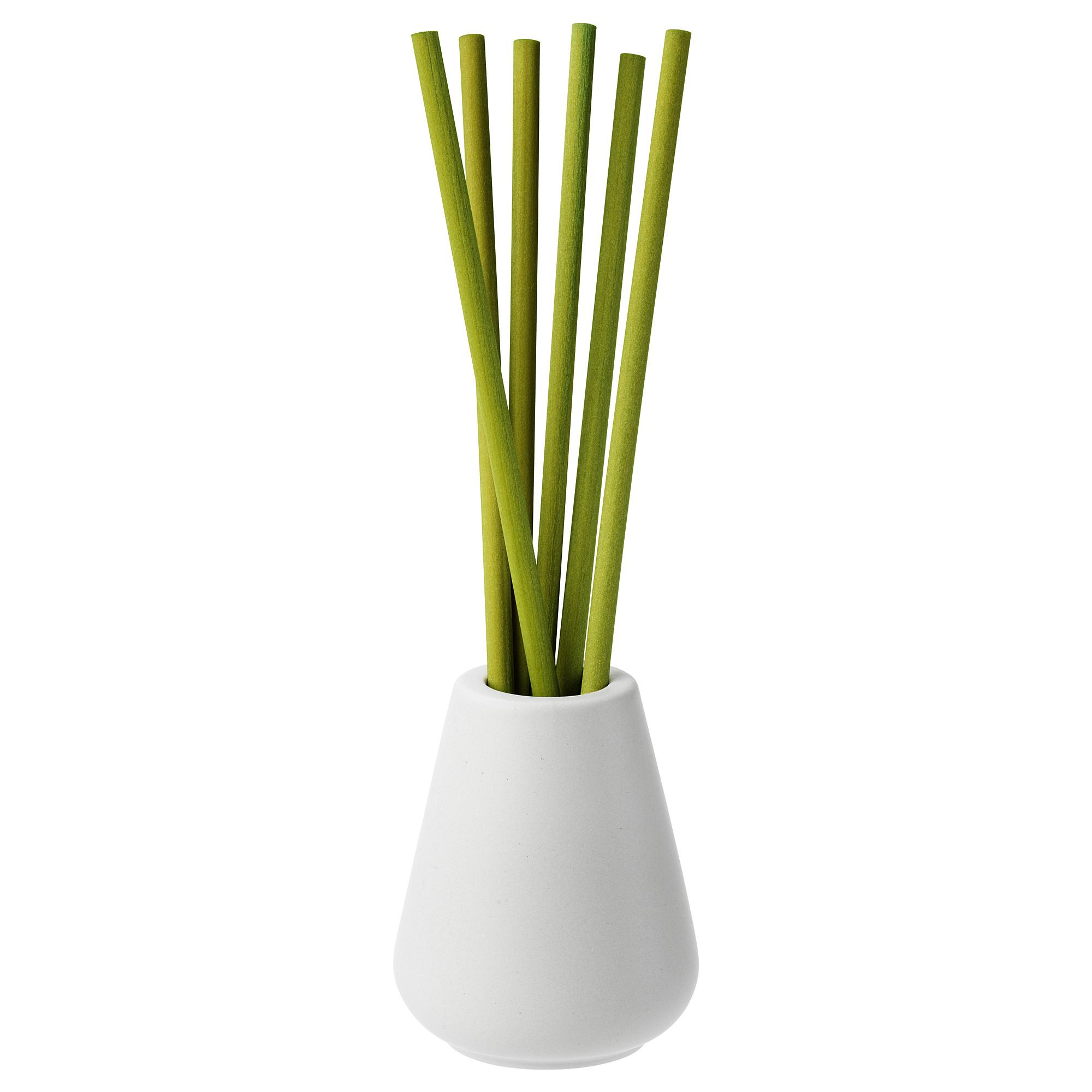 Ваза и 6 ароматических палочек НЬЮТНИНГ, Травы, зеленый