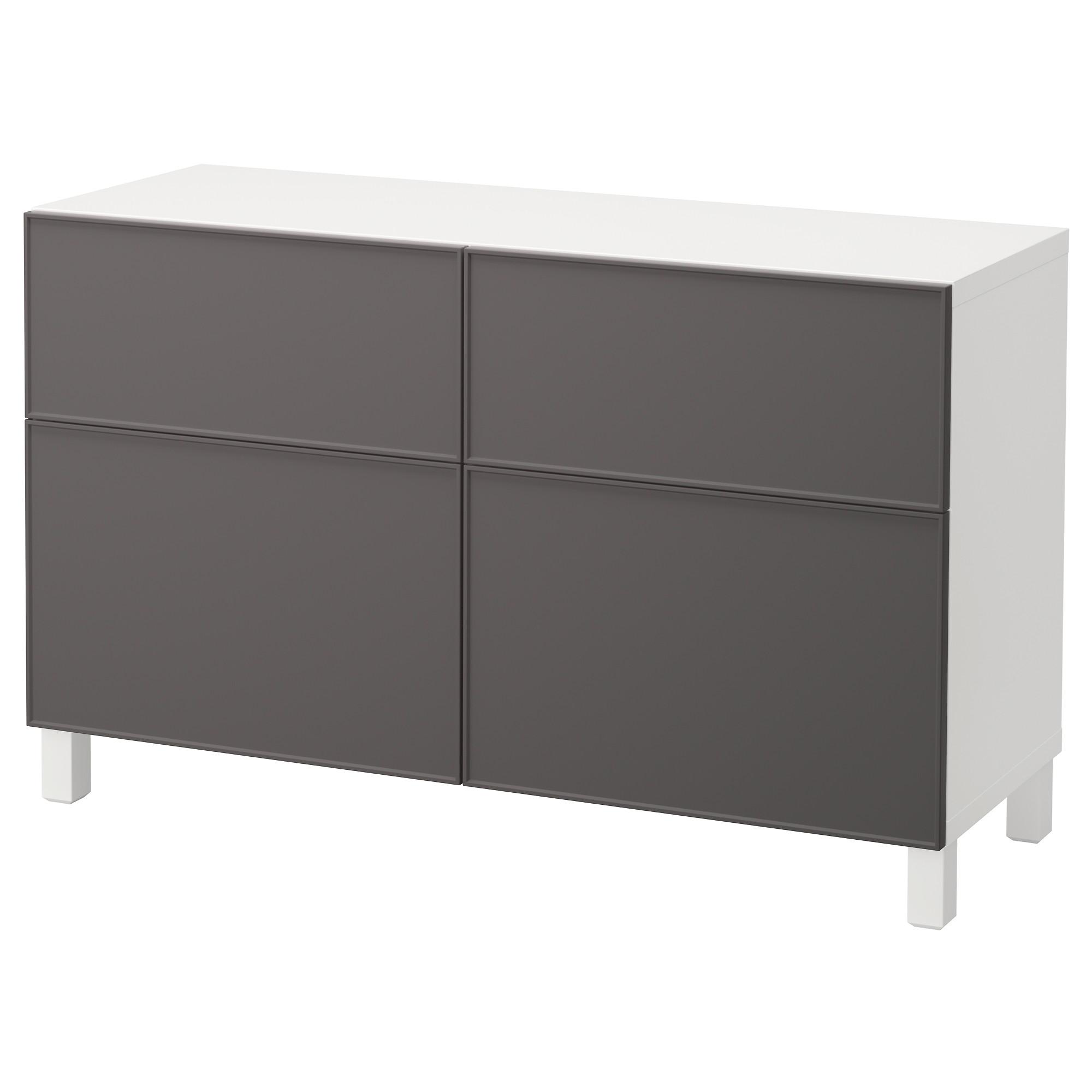 Комбинация для хранения с дверцами, ящиками БЕСТО темно-серый артикуль № 892.492.38 в наличии. Интернет сайт IKEA Беларусь. Недорогая доставка и установка.
