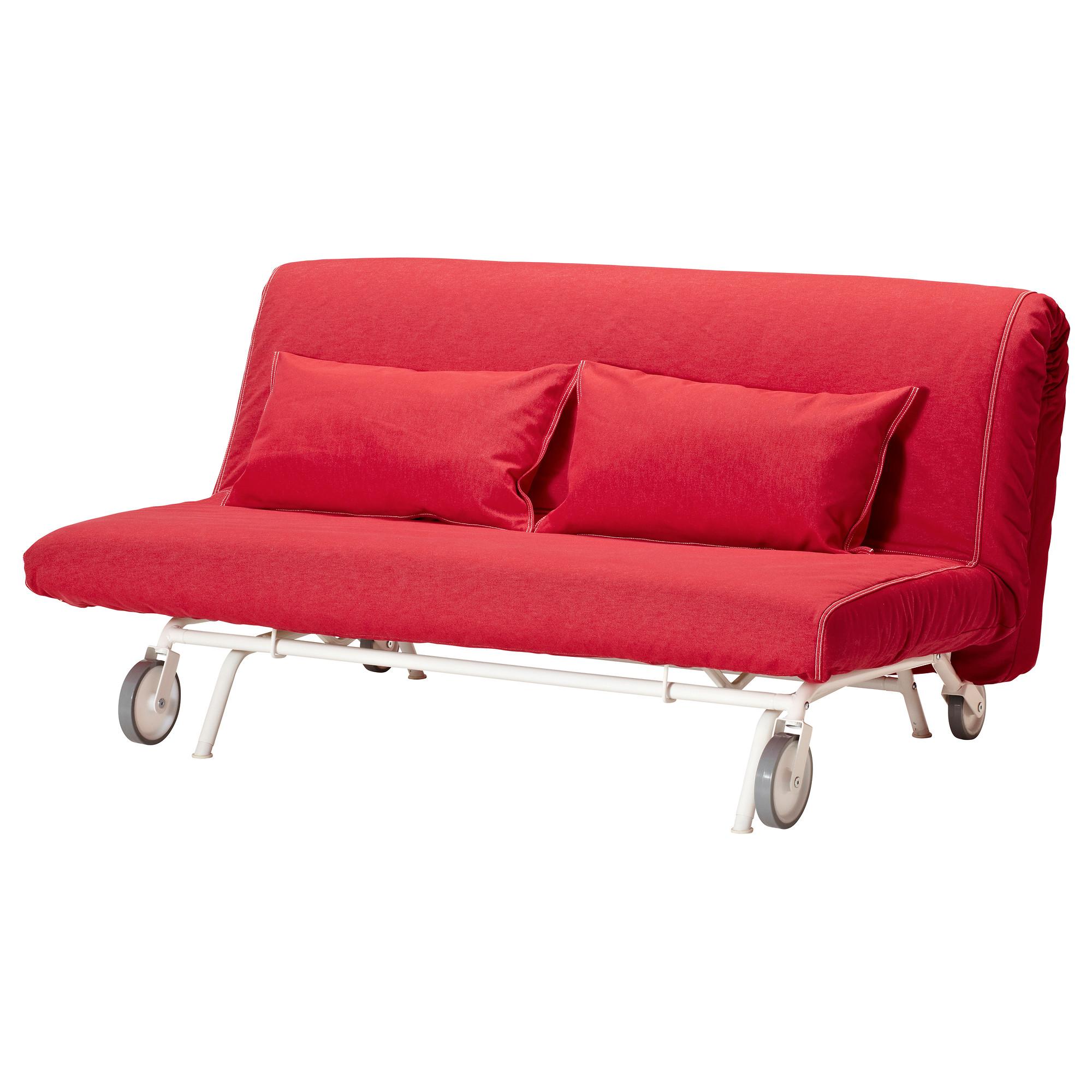 2-местный диван-кровать ИКЕА/ПС ЛЁВОС красный артикуль № 092.825.14 в наличии. Интернет магазин ИКЕА Республика Беларусь. Недорогая доставка и монтаж.