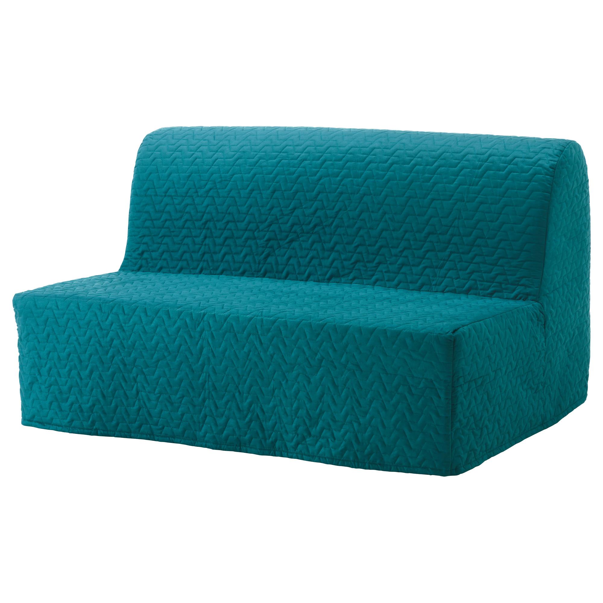 2-местный диван-кровать ЛИКСЕЛЕ ЛЁВОС бирюзовый артикуль № 192.824.34 в наличии. Online магазин ИКЕА РБ. Недорогая доставка и монтаж.