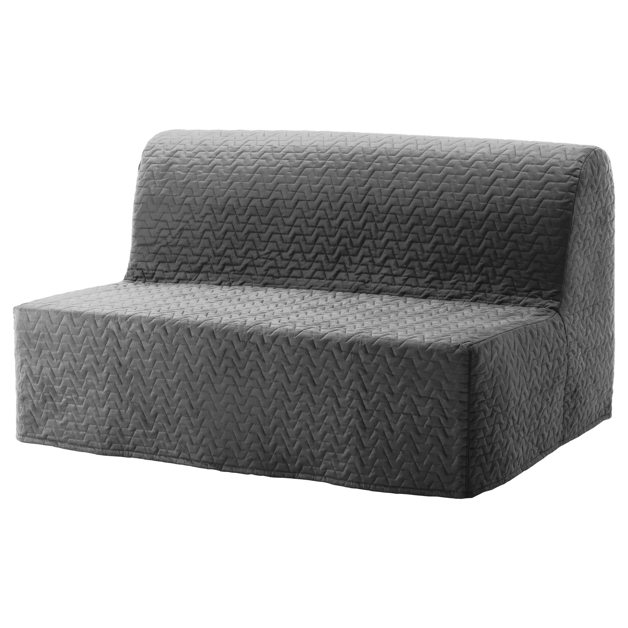 2-местный диван-кровать ЛИКСЕЛЕ МУРБО серый артикуль № 092.824.20 в наличии. Онлайн сайт ИКЕА РБ. Быстрая доставка и соборка.