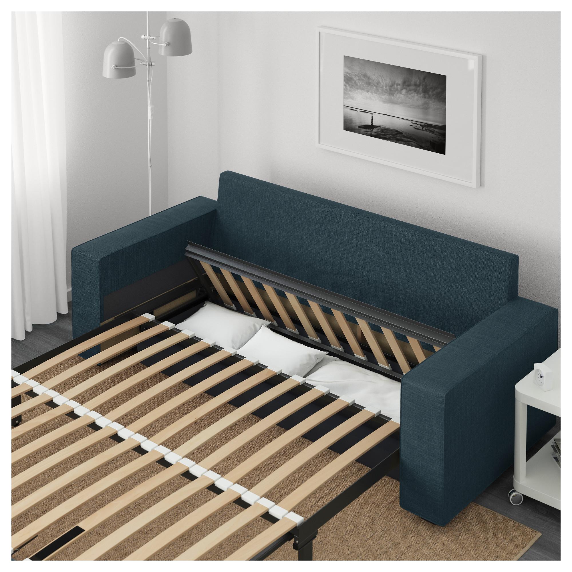 3-местный диван-кровать ВИЛАСУНД темно-синий артикуль № 792.825.01 в наличии. Интернет каталог IKEA Республика Беларусь. Быстрая доставка и монтаж.