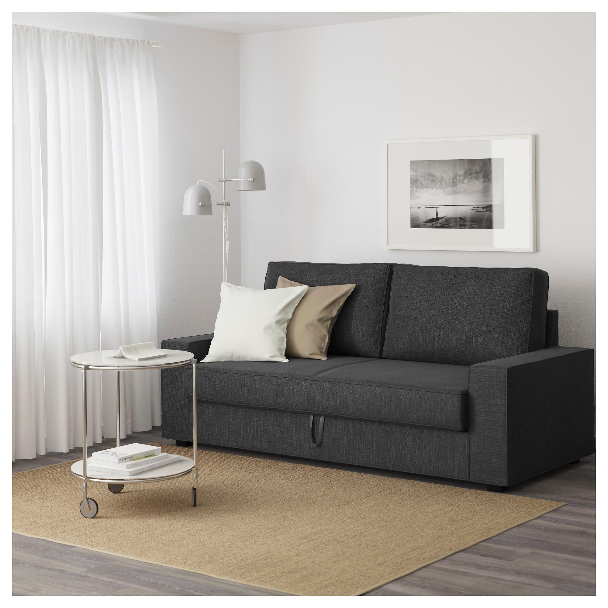 3-местный диван-кровать ВИЛАСУНД антрацит артикуль № 892.824.97 в наличии. Онлайн магазин ИКЕА Беларусь. Быстрая доставка и соборка.