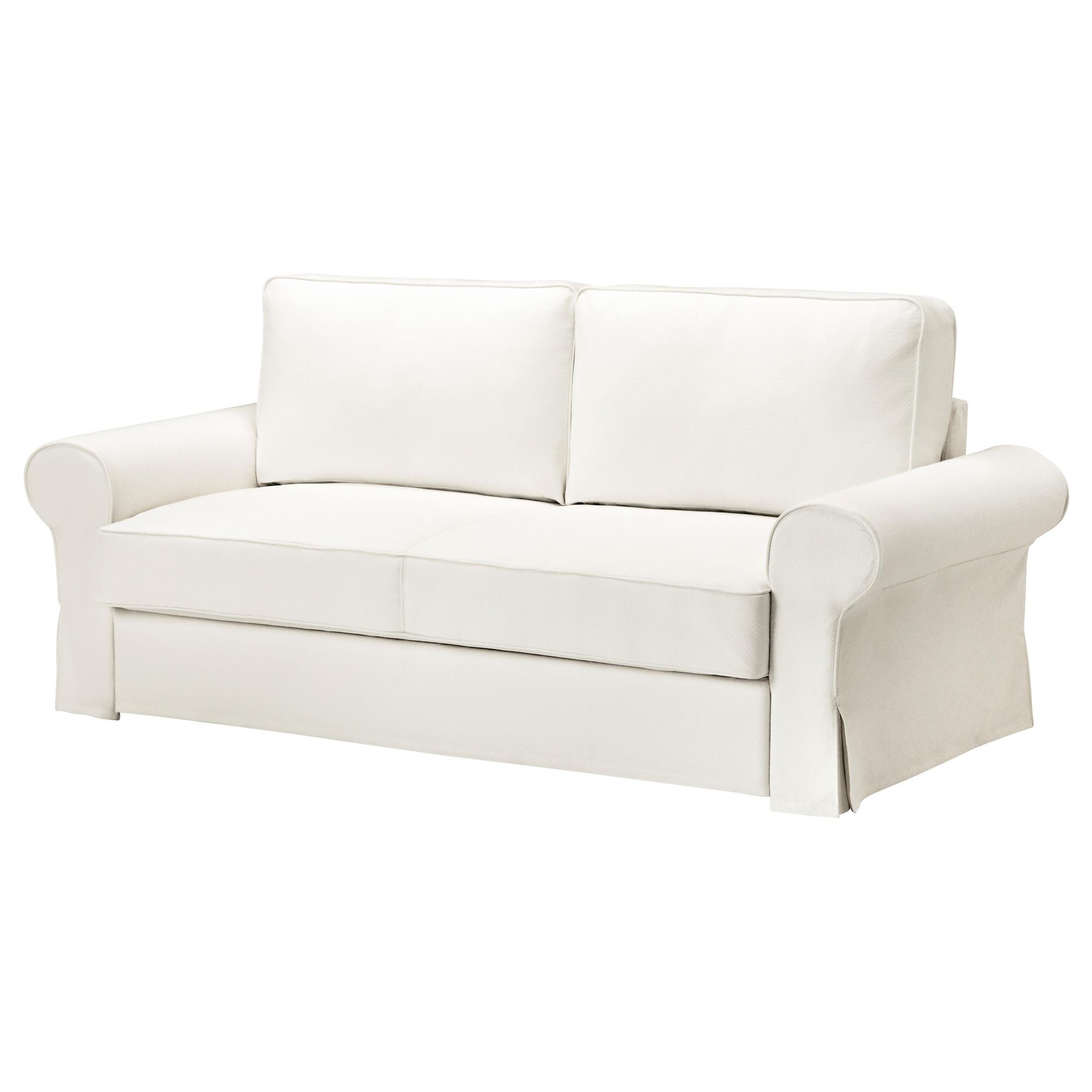Диван-кровать 3-местный БАККАБРУ белый артикуль № 692.407.24 в наличии. Онлайн магазин ИКЕА РБ. Быстрая доставка и установка.