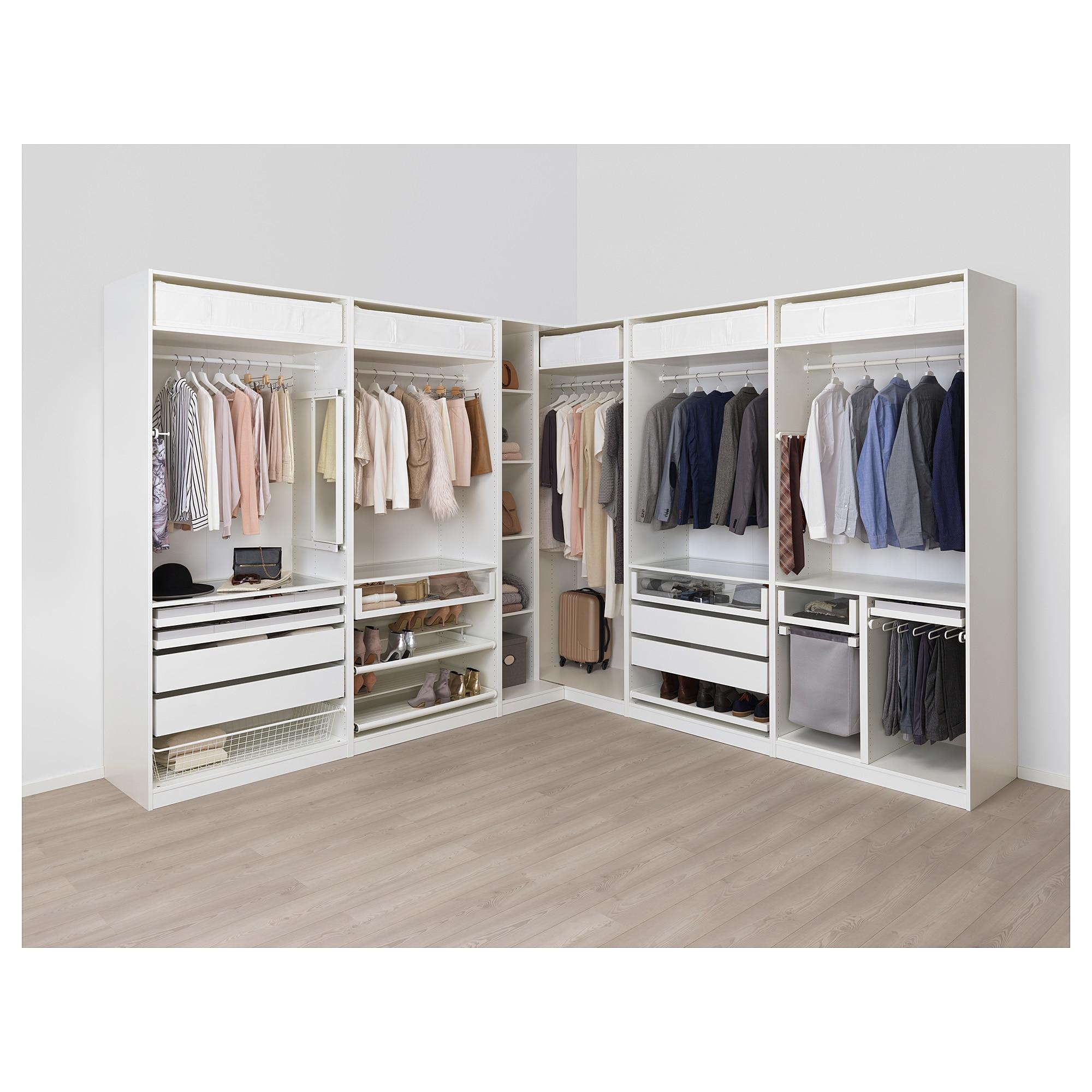 Гардероб угловой ПАКС белый артикуль № 492.751.54 в наличии. Интернет магазин IKEA РБ. Недорогая доставка и монтаж.