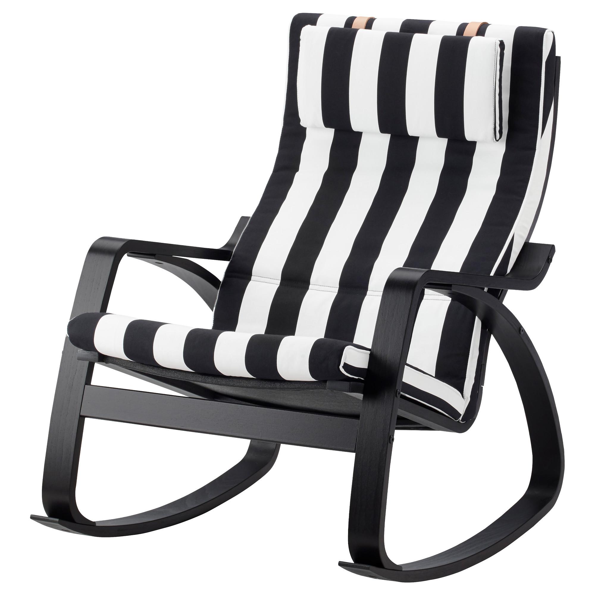 Кресло-качалка ПОЭНГ черный/белый артикуль № 292.515.64 в наличии. Online сайт ИКЕА Беларусь. Быстрая доставка и установка.