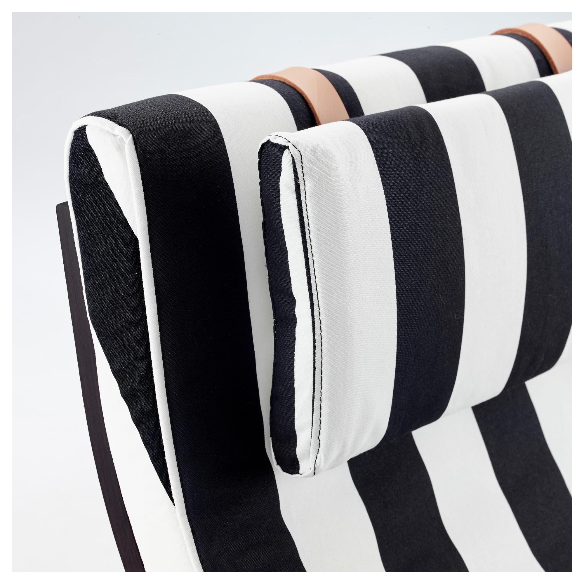 Кресло-качалка ПОЭНГ черный/белый артикуль № 292.515.64 в наличии. Online сайт IKEA Беларусь. Недорогая доставка и монтаж.