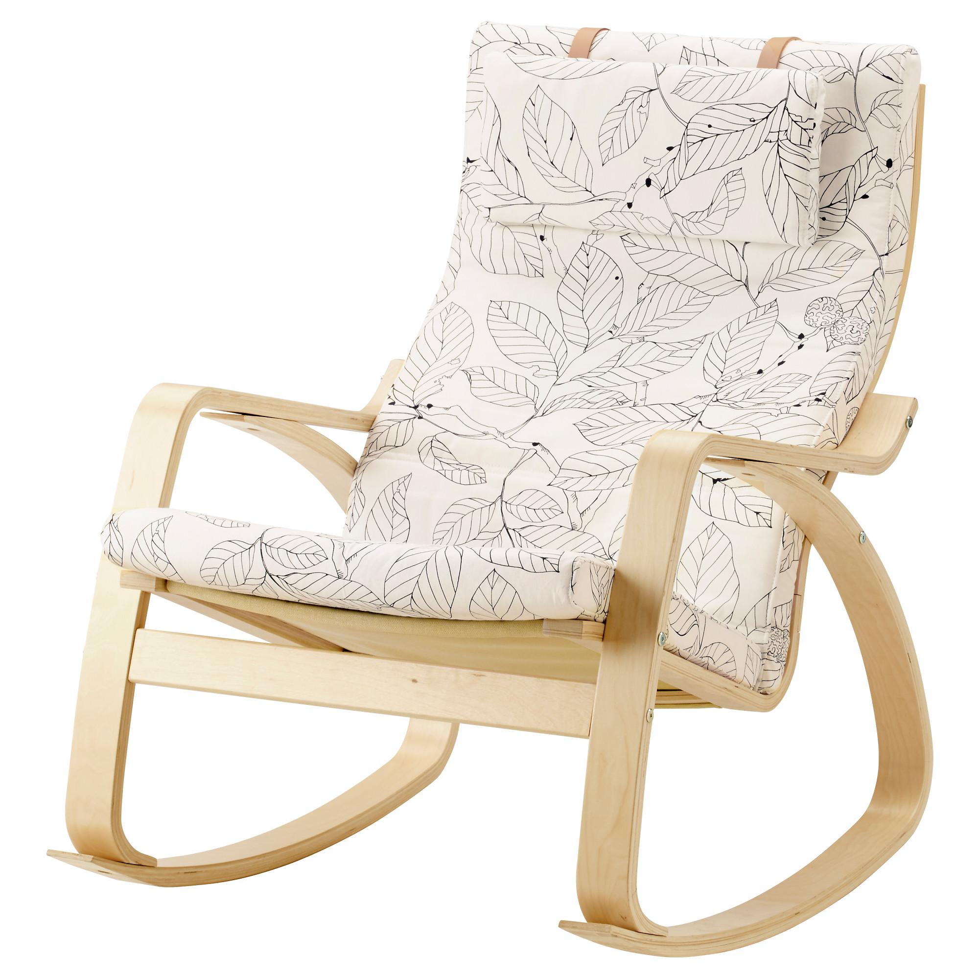 Кресло-качалка ПОЭНГ черный/белый артикуль № 392.515.68 в наличии. Онлайн сайт IKEA Республика Беларусь. Недорогая доставка и монтаж.