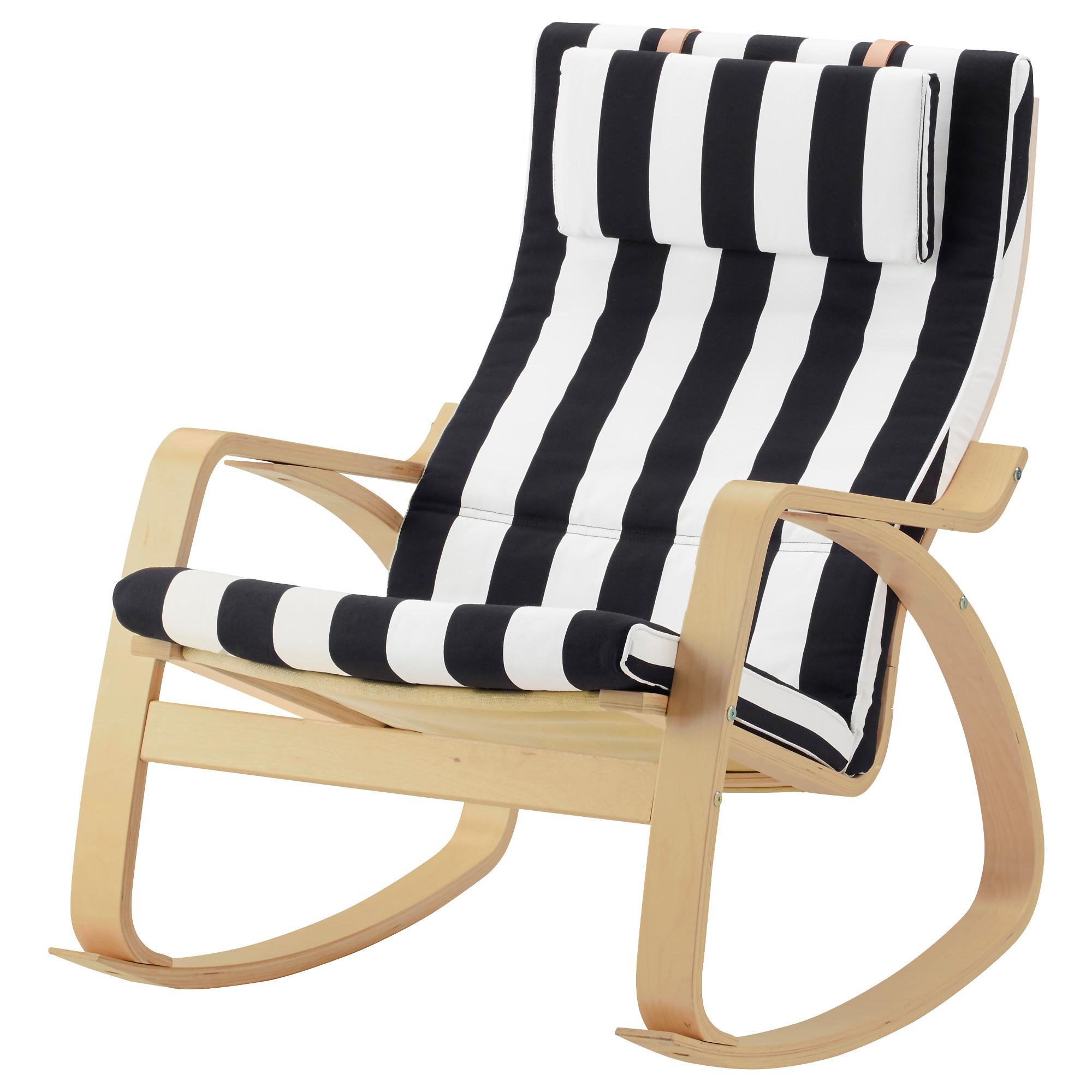 Кресло-качалка ПОЭНГ черный/белый артикуль № 492.515.63 в наличии. Интернет каталог IKEA Минск. Недорогая доставка и соборка.