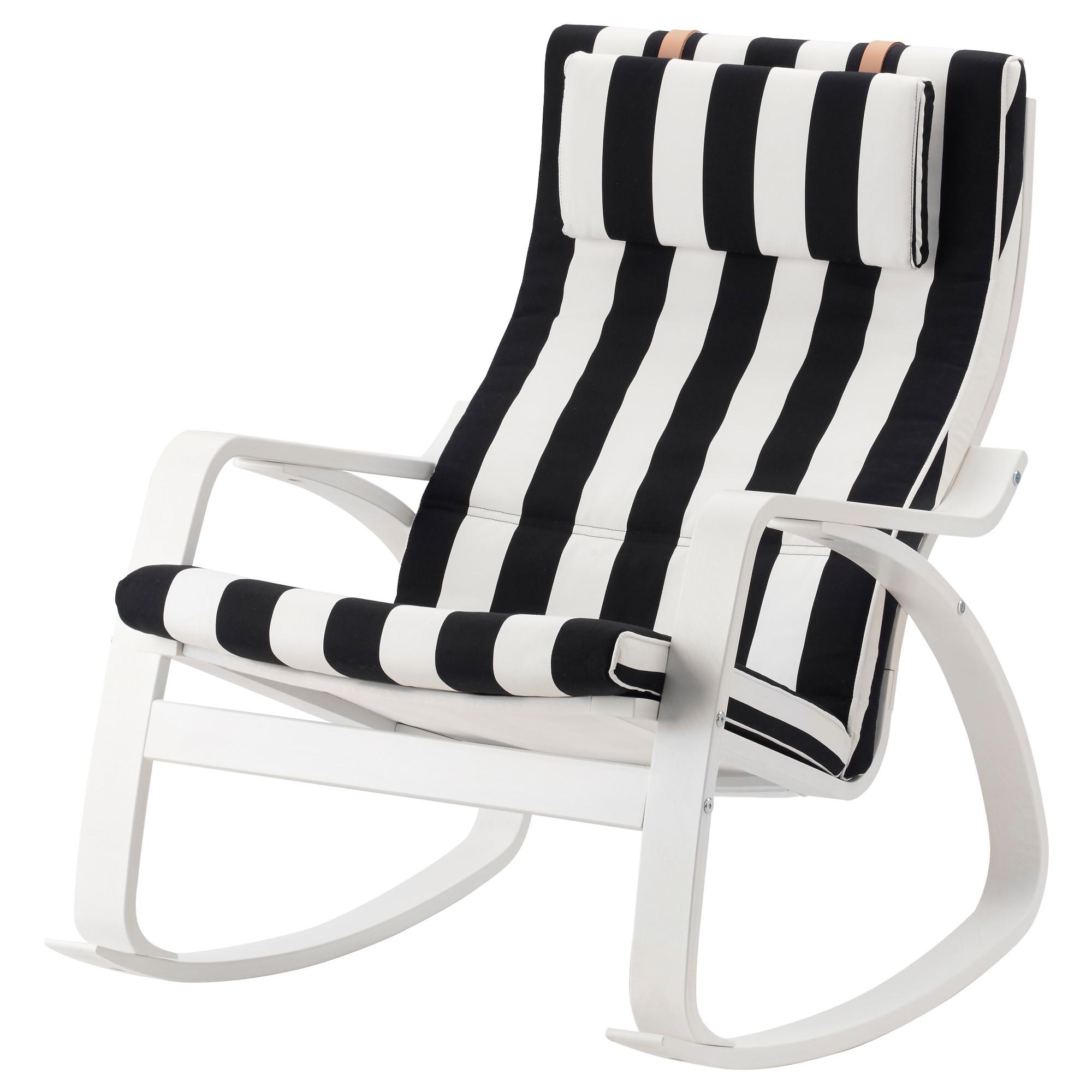 Кресло-качалка ПОЭНГ черный/белый артикуль № 592.515.67 в наличии. Онлайн каталог IKEA Беларусь. Быстрая доставка и монтаж.