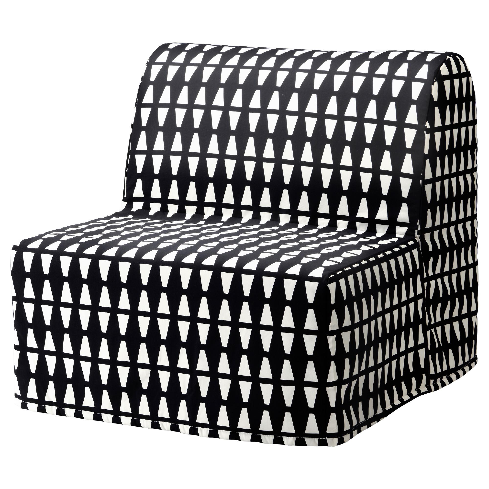 Кресло-кровать ЛИКСЕЛЕ ЛЁВОС черный/белый артикуль № 492.407.39 в наличии. Онлайн магазин IKEA Республика Беларусь. Недорогая доставка и установка.