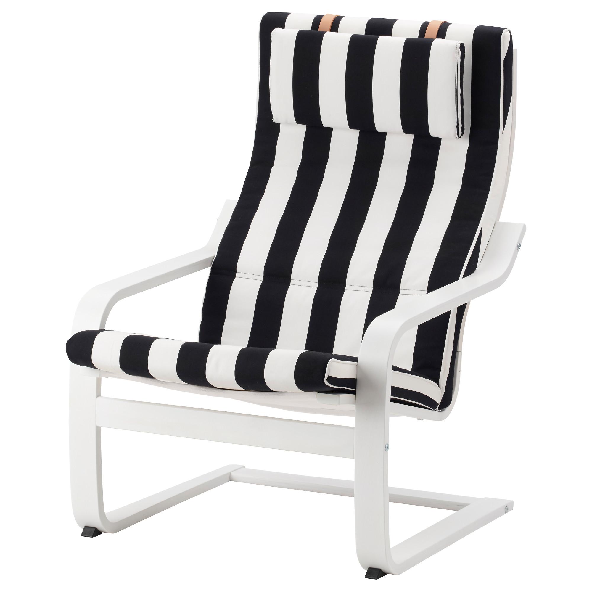 Кресло ПОЭНГ черный/белый артикуль № 692.515.57 в наличии. Интернет магазин ИКЕА РБ. Быстрая доставка и соборка.