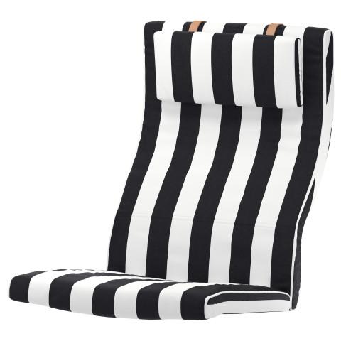 Подушка-сиденье на кресло ПОЭНГ черный/белый артикуль № 803.916.36 в наличии. Интернет каталог IKEA Минск. Недорогая доставка и соборка.