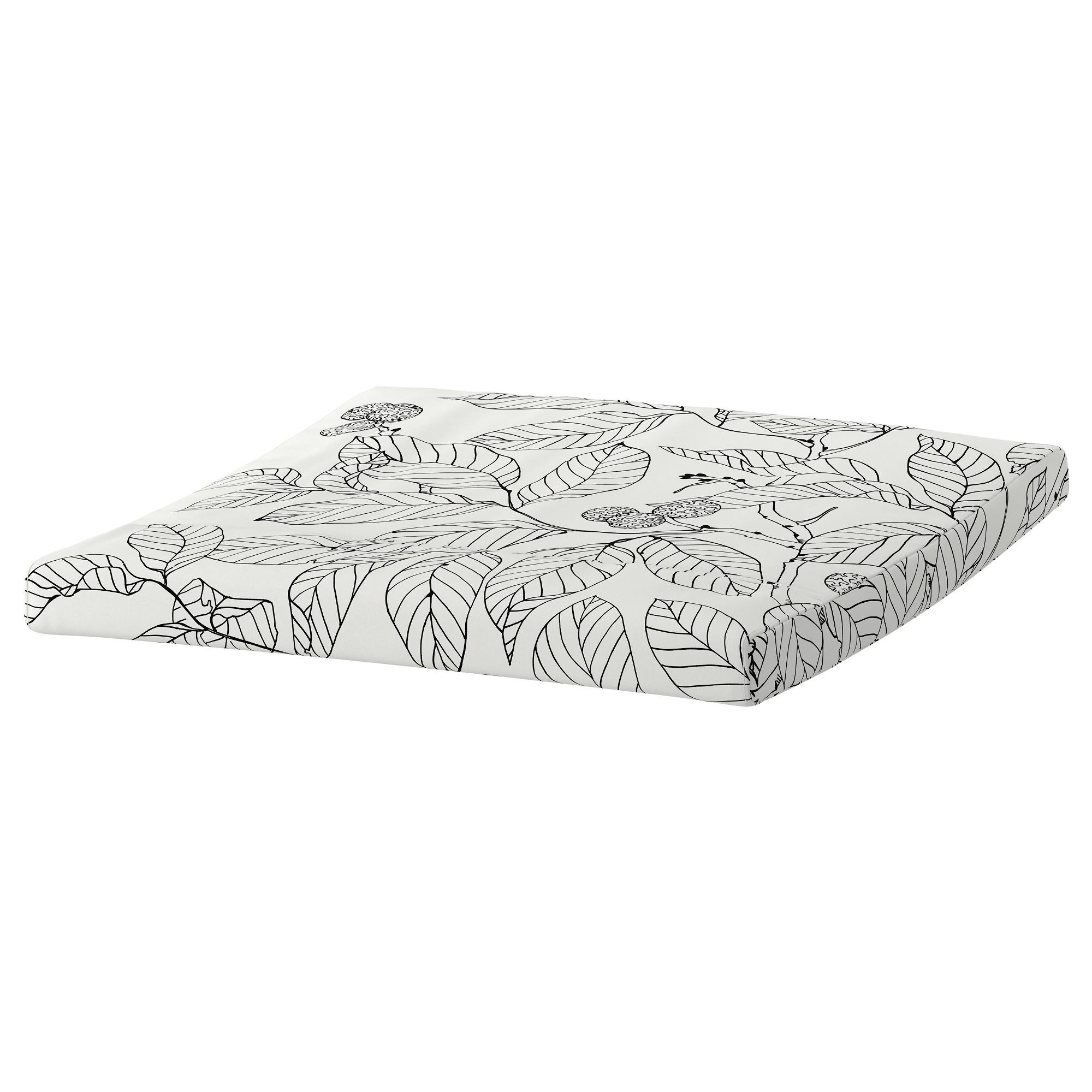 Подушка-сиденье на табурет для ног ПОЭНГ черный/белый артикуль № 603.916.37 в наличии. Онлайн каталог IKEA Минск. Недорогая доставка и установка.