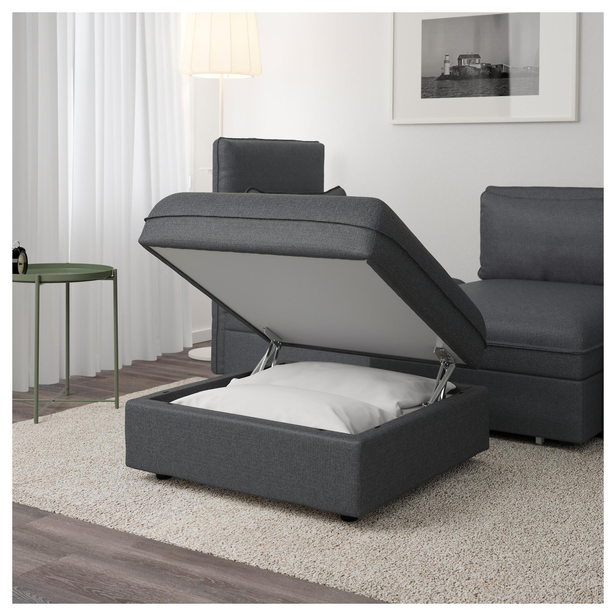 Секция дивана+отделение для хранения ВАЛЛЕНТУНА темно-серый артикуль № 992.825.62 в наличии. Интернет каталог IKEA Минск. Недорогая доставка и монтаж.
