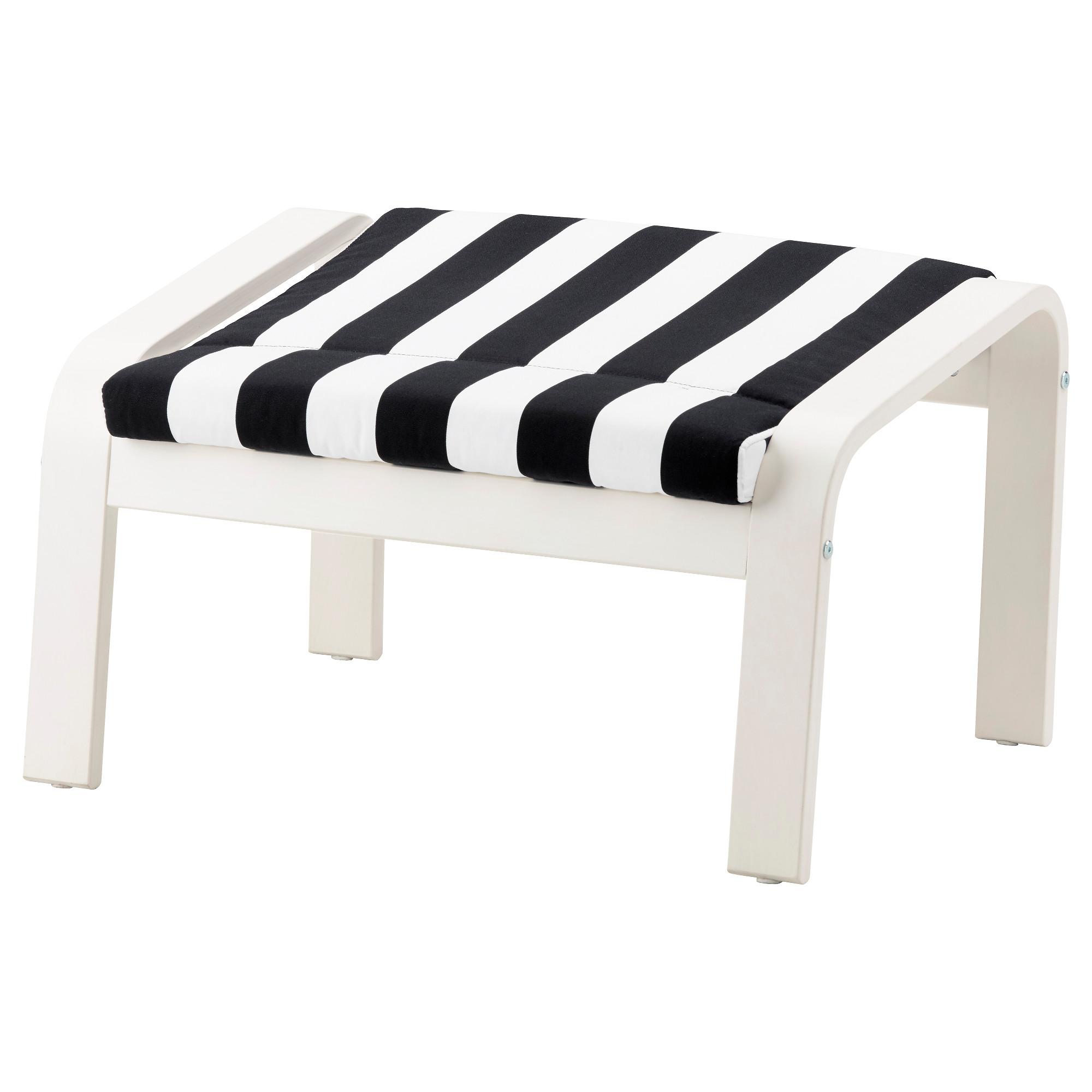 Табурет для ног ПОЭНГ черный/белый артикуль № 692.515.62 в наличии. Онлайн сайт IKEA Беларусь. Недорогая доставка и монтаж.