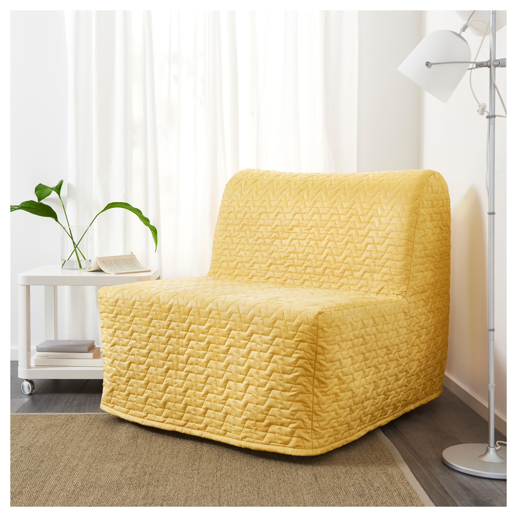купить кресло кровать ликселе ховет валларум желтый в икеа минск