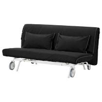 2-местный диван-кровать ИКЕА/ПС ЛЁВОС черный артикуль № 192.825.23 в наличии. Онлайн магазин IKEA Беларусь. Быстрая доставка и установка.