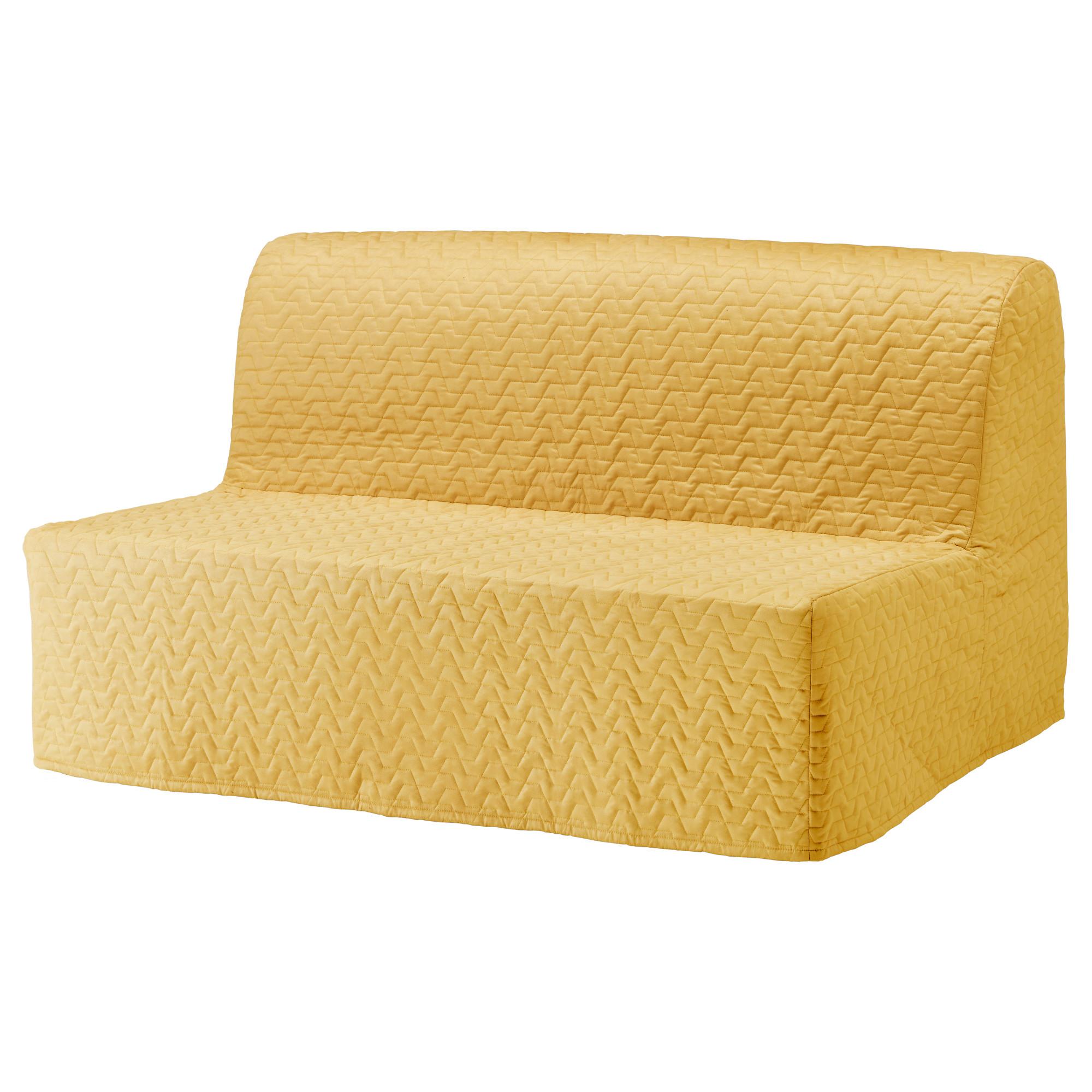 2-местный диван-кровать ЛИКСЕЛЕ ХОВЕТ желтый артикуль № 892.824.16 в наличии. Online магазин IKEA Минск. Быстрая доставка и установка.
