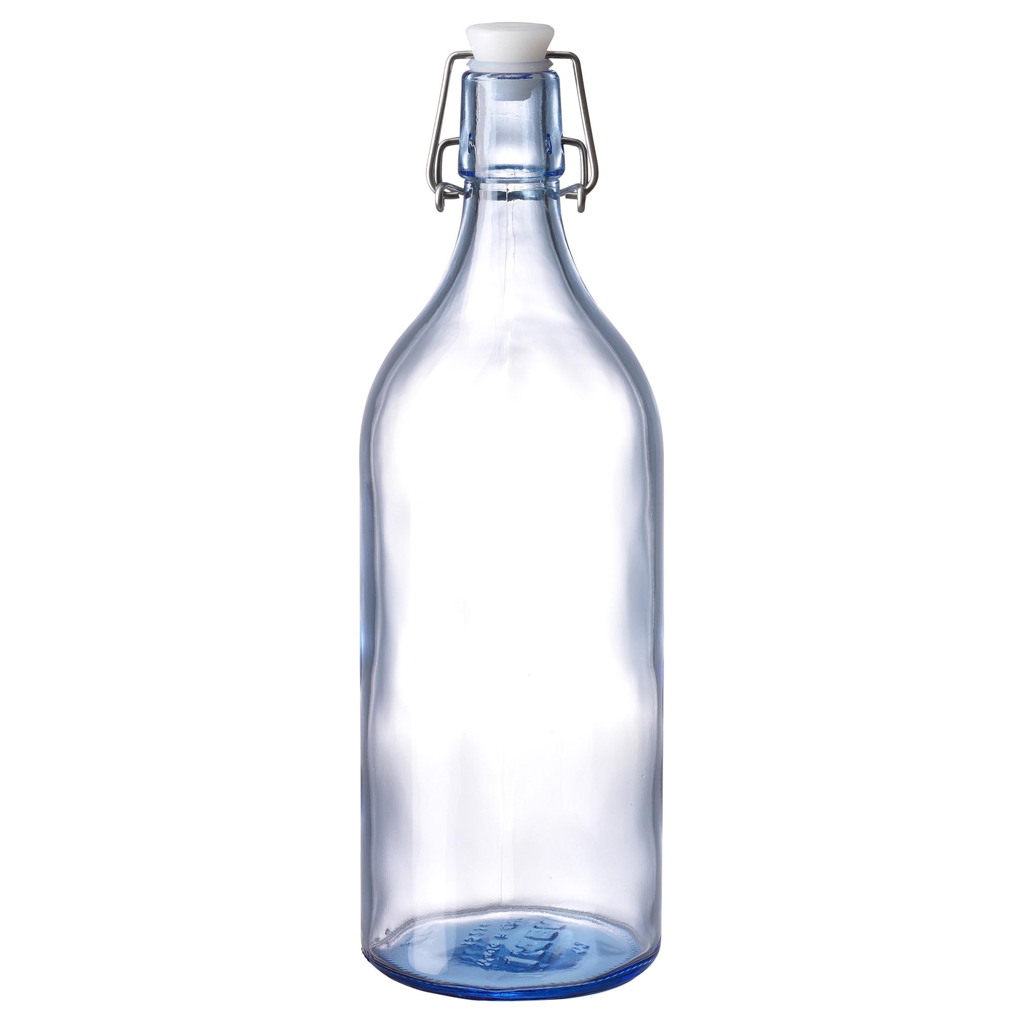Бутылка с пробкой КОРКЕН синий артикуль № 804.253.92 в наличии. Online магазин ИКЕА РБ. Быстрая доставка и установка.
