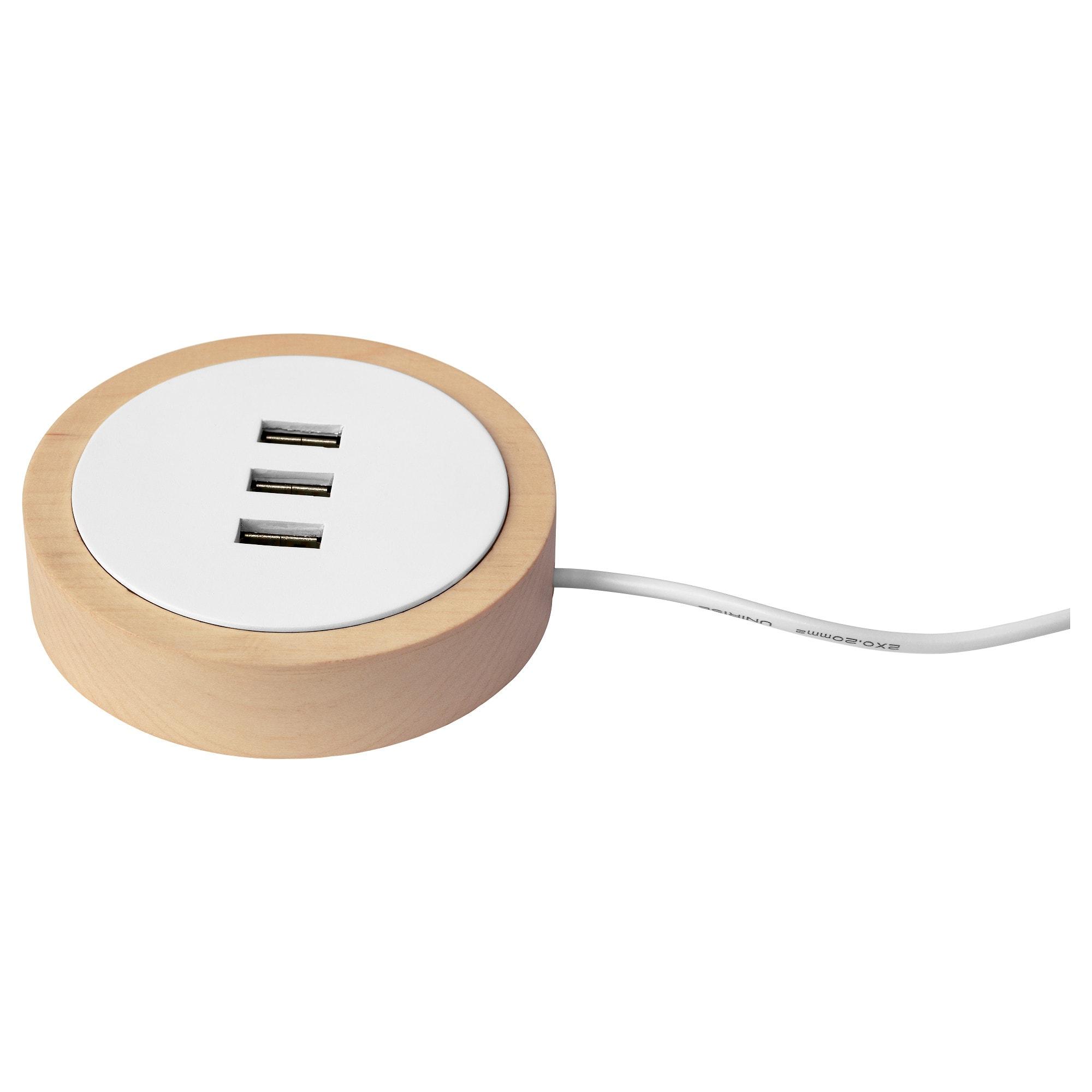 Зарядное устройство USB НУРДМЭРКЕ белый артикуль № 003.820.37 в наличии. Online каталог IKEA Беларусь. Быстрая доставка и монтаж.