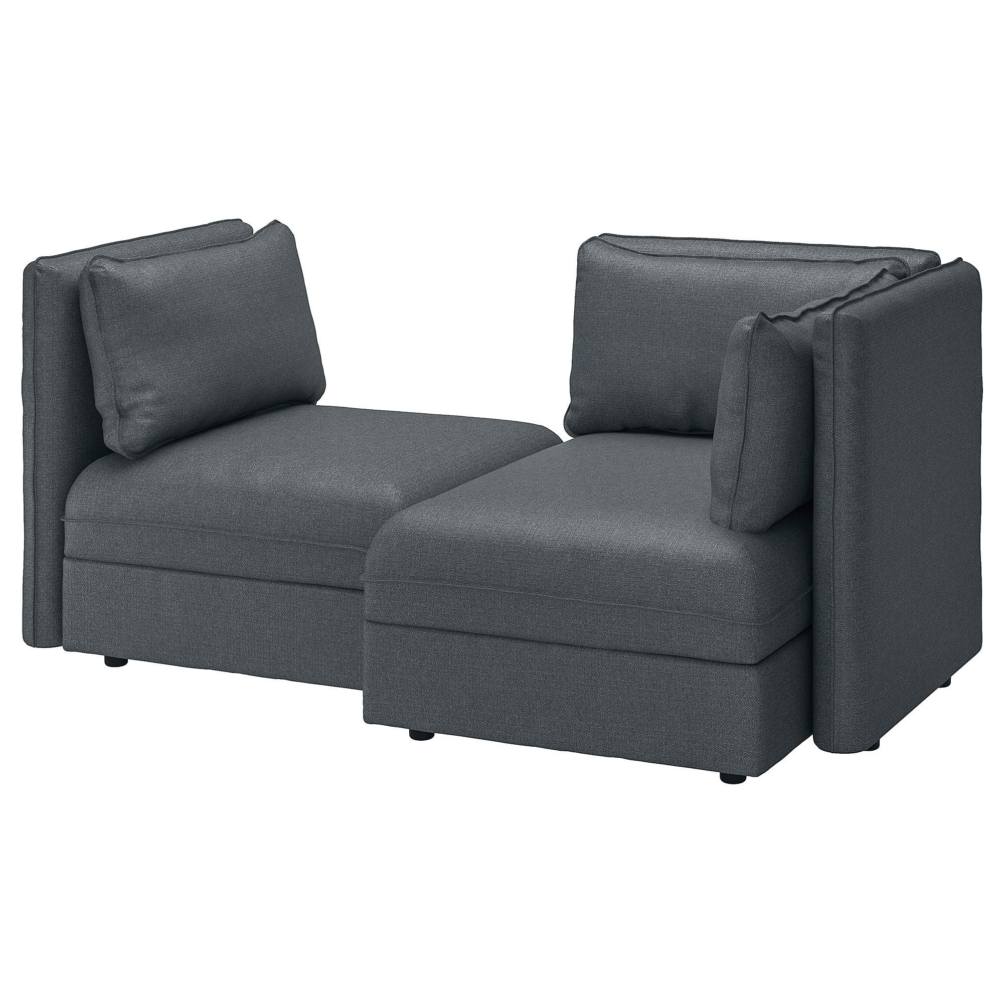 2-местный модульный диван ВАЛЛЕНТУНА, Хилларед, Хилларед темно-серый