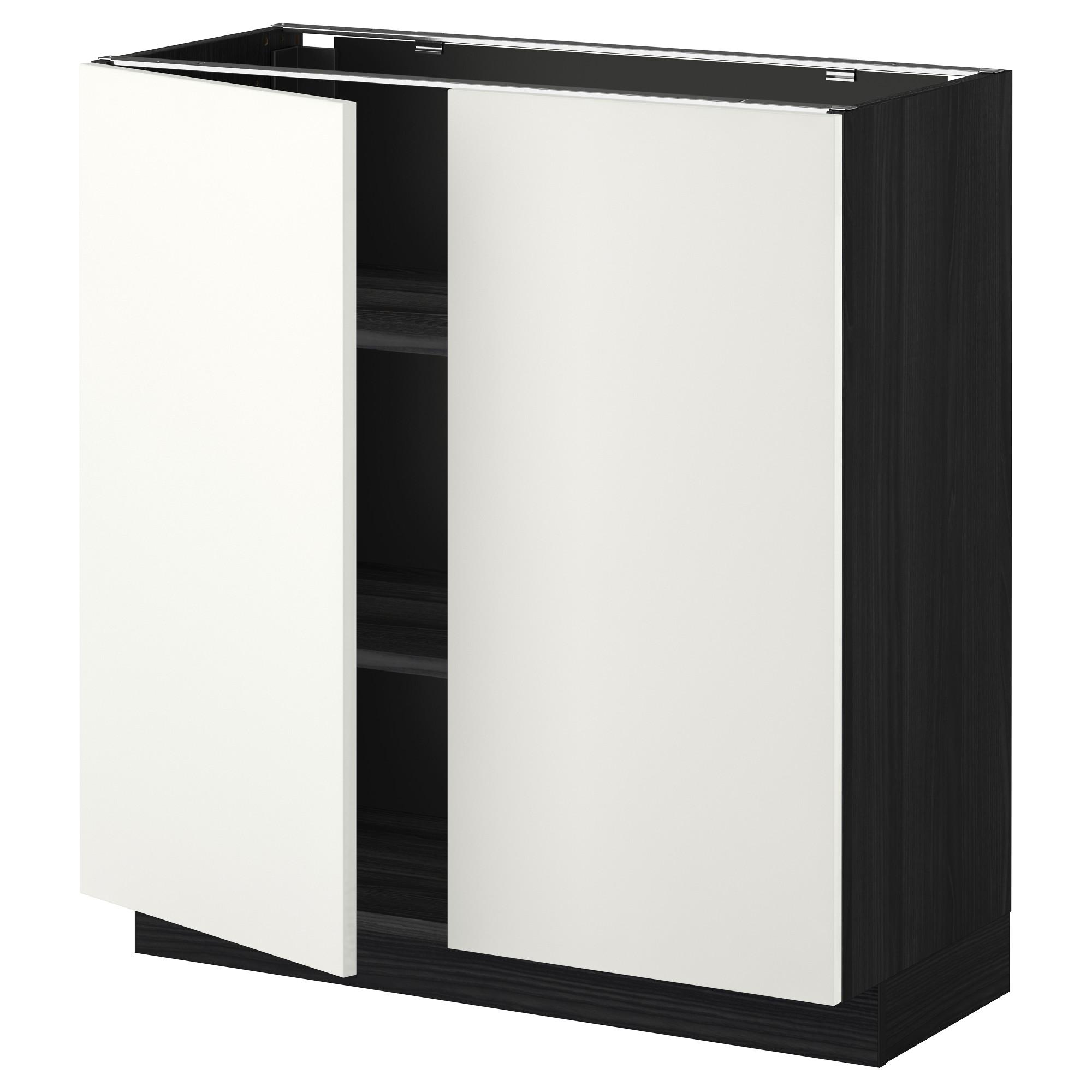 Напольный шкаф с полками, 2 двери МЕТОД черный артикуль № 892.261.28 в наличии. Интернет каталог IKEA Минск. Недорогая доставка и соборка.