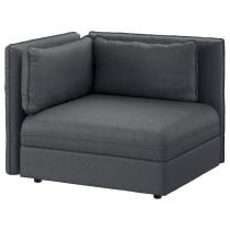 Секция дивана со спинкой ВАЛЛЕНТУНА темно-серый артикуль № 192.769.75 в наличии. Интернет магазин IKEA РБ. Недорогая доставка и монтаж.