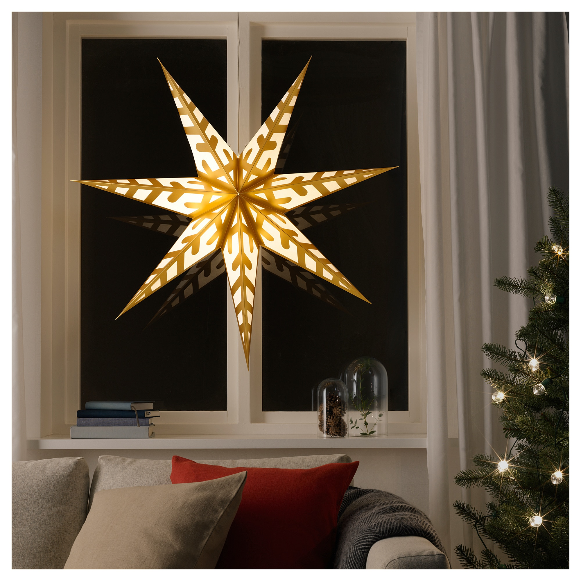 Абажур для подвесного светильника СТРОЛА золотой артикуль № 804.054.74 в наличии. Интернет сайт IKEA Минск. Недорогая доставка и установка.