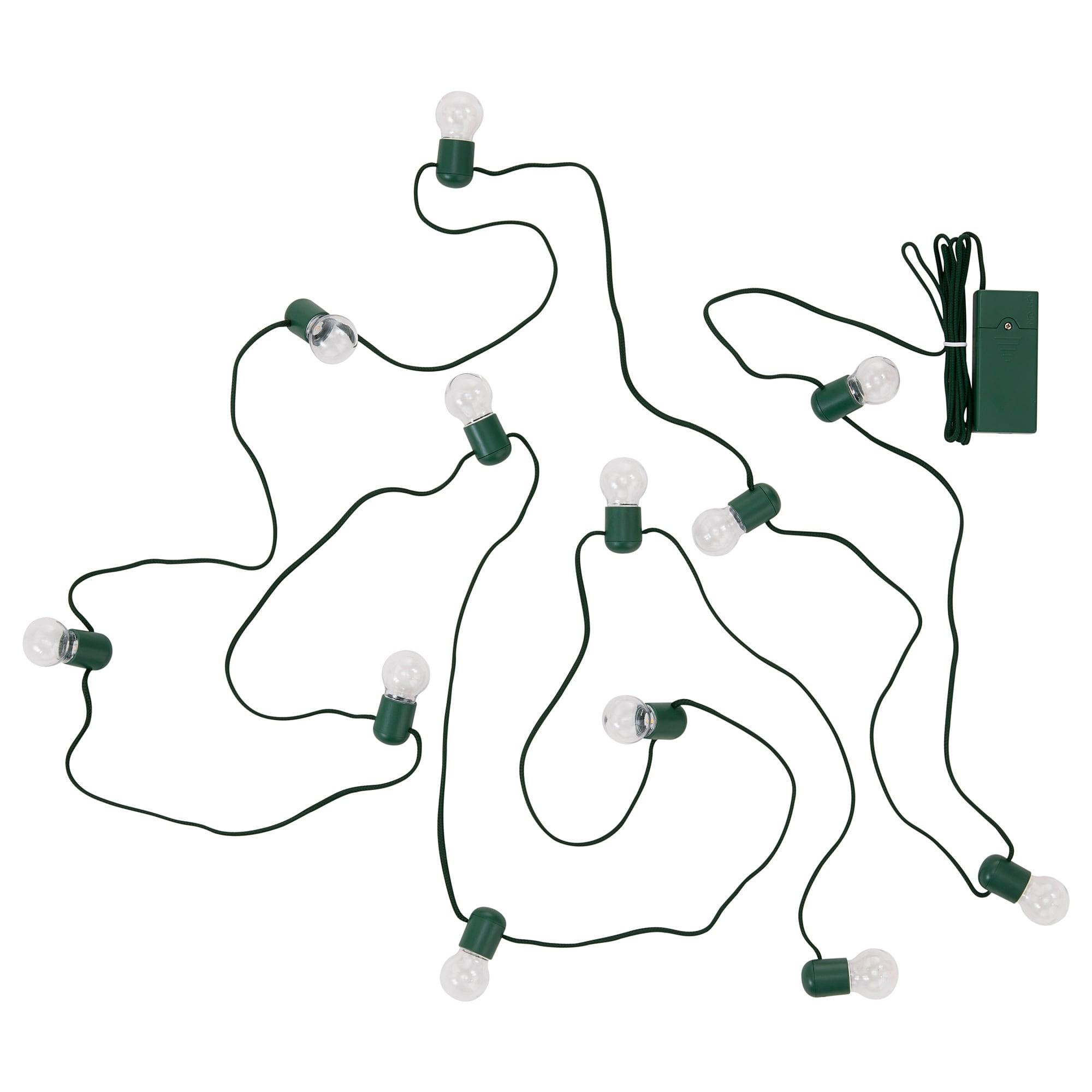 Гирлянда, 12 светодиодов СТРОЛА зеленый артикуль № 104.089.56 в наличии. Онлайн магазин IKEA Республика Беларусь. Недорогая доставка и установка.