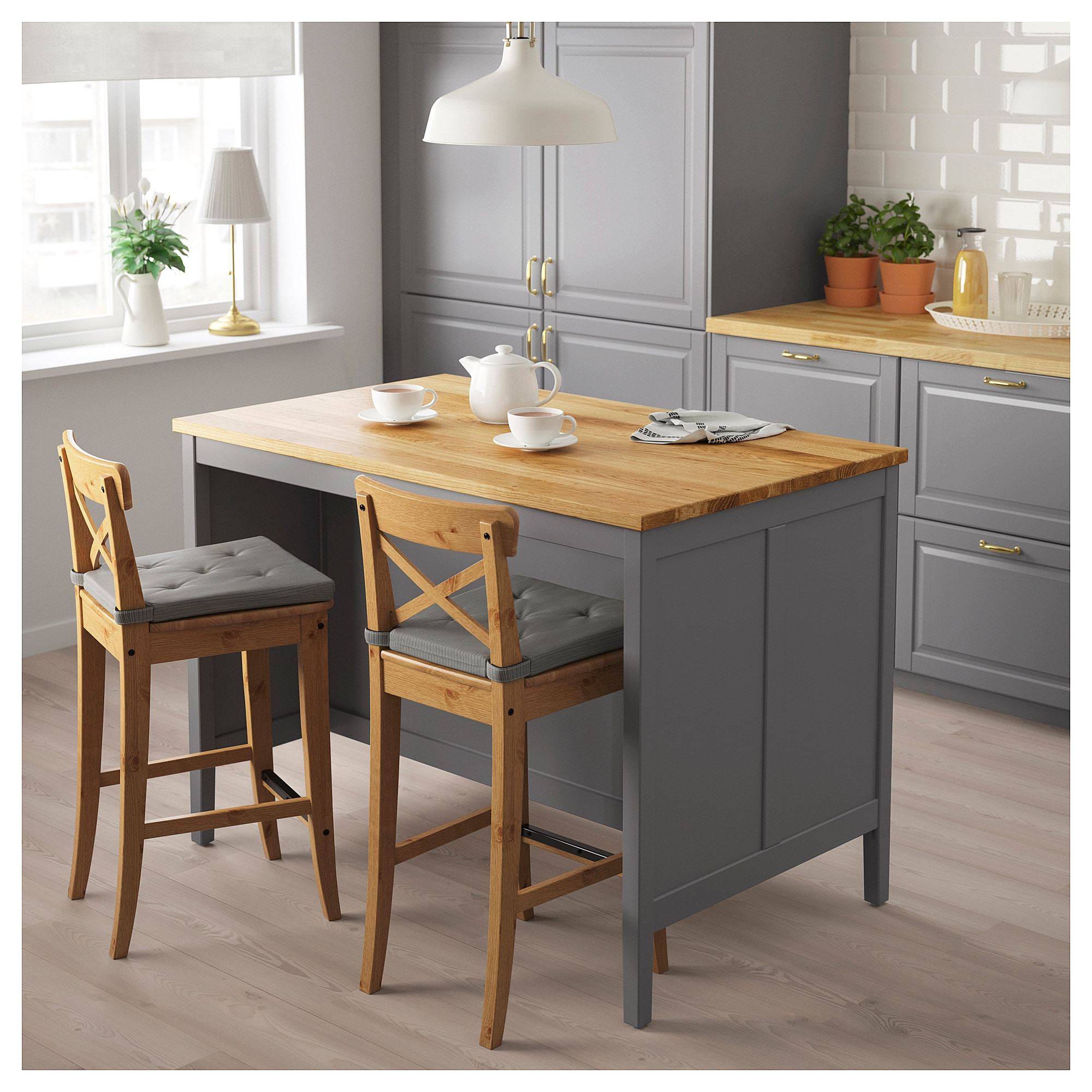 Кухонн стол-остров ТОРНВИКЕН серый артикуль № 204.022.37 в наличии. Online каталог IKEA Минск. Недорогая доставка и монтаж.