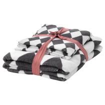 Набор полотенец, 4 шт ВИНТЕР 2018 серый/белый артикуль № 604.222.43 в наличии. Интернет каталог IKEA Минск. Недорогая доставка и установка.