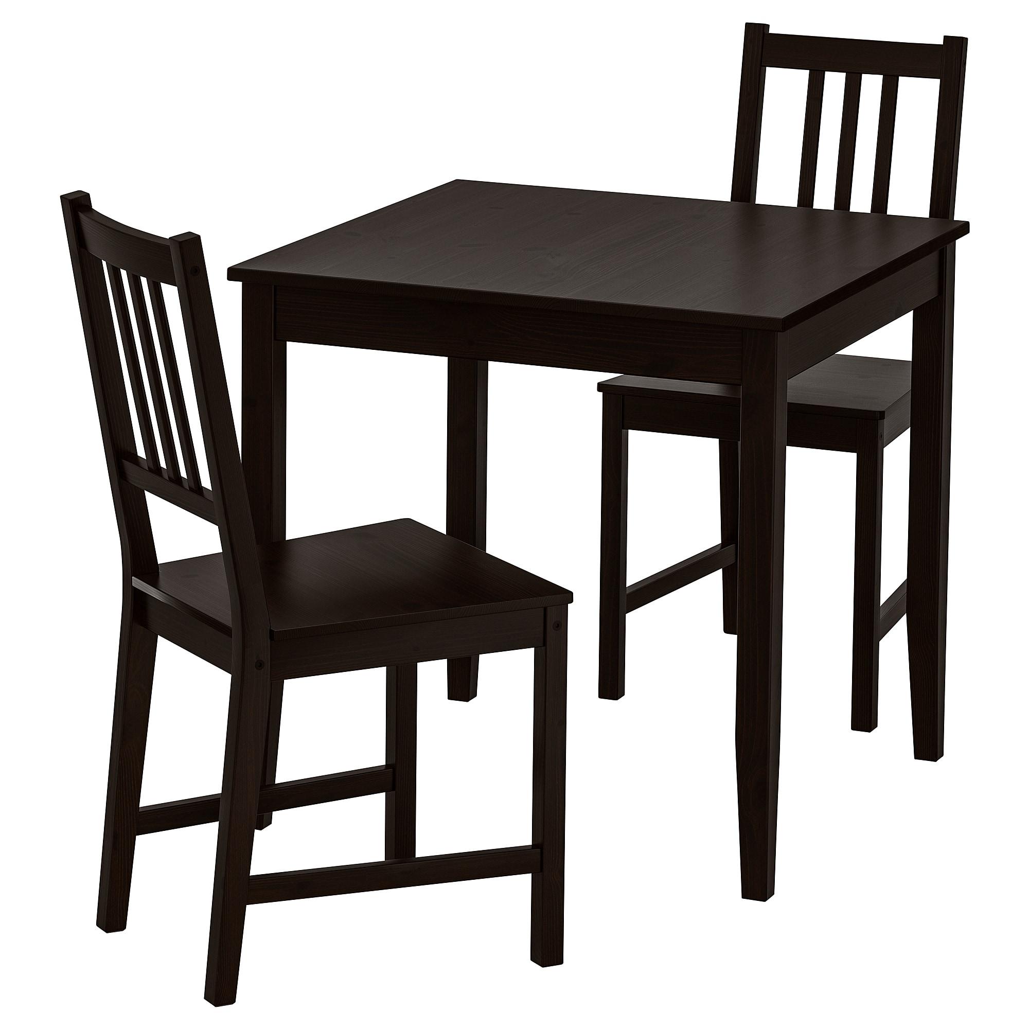 Стол и 2 стула ЛЕРХАМН / СТЕФАН коричнево-чёрный артикуль № 092.968.94 в наличии. Online сайт IKEA Республика Беларусь. Быстрая доставка и монтаж.