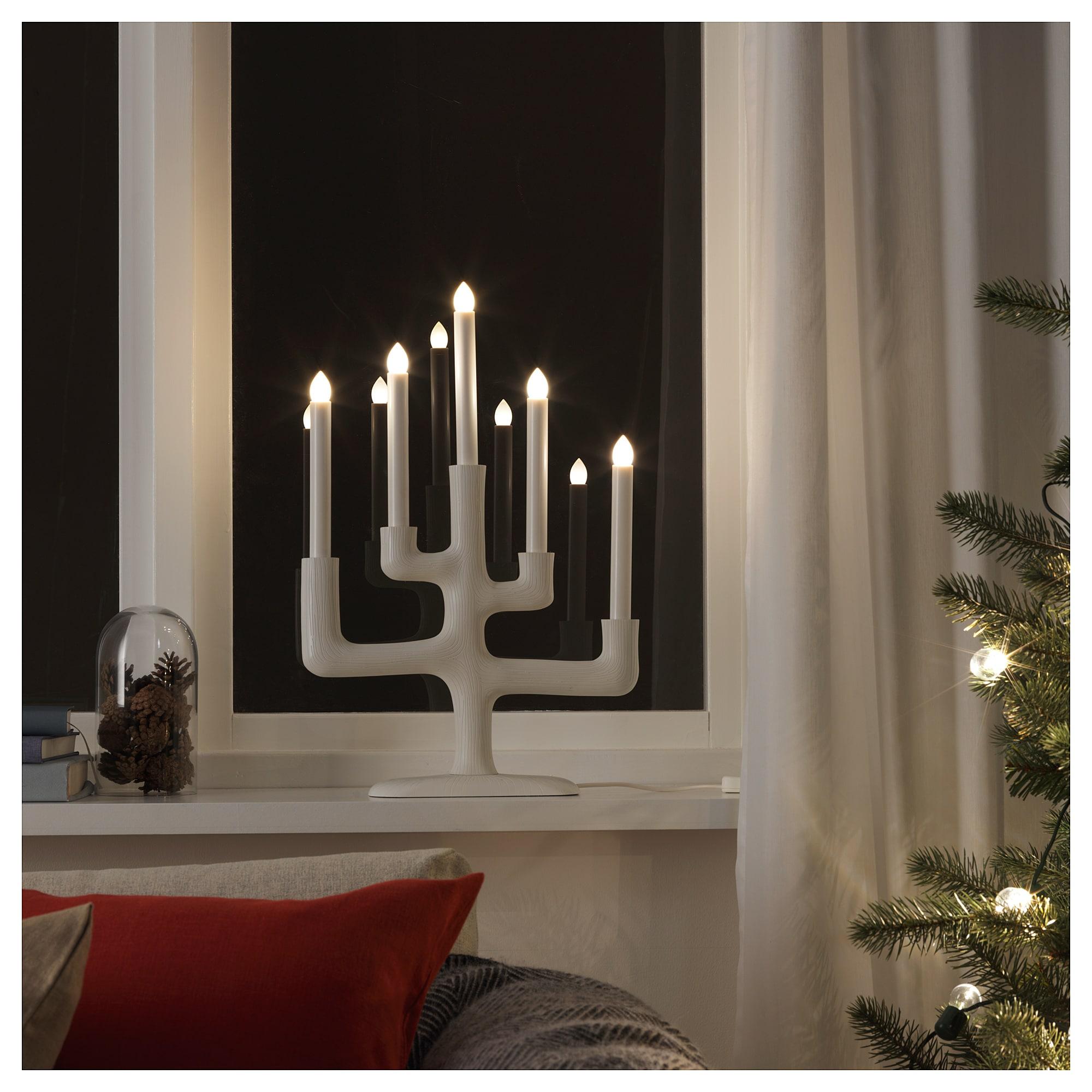 Светодиодный канделябр, 5 ламп СТРОЛА белый артикуль № 404.077.19 в наличии. Онлайн магазин IKEA Минск. Быстрая доставка и установка.