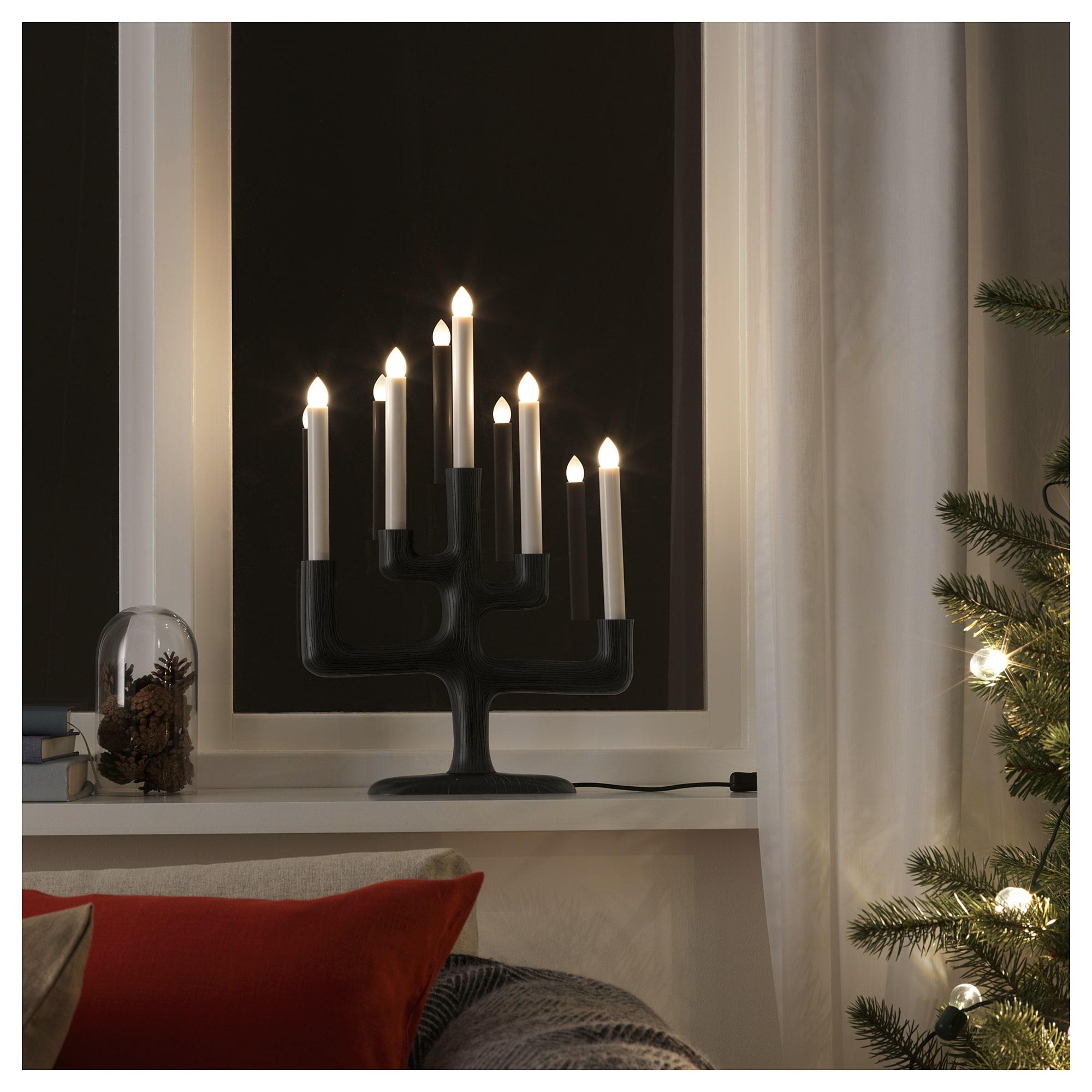 Светодиодный канделябр, 5 ламп СТРОЛА темно-серый артикуль № 404.077.43 в наличии. Online сайт IKEA Беларусь. Недорогая доставка и соборка.